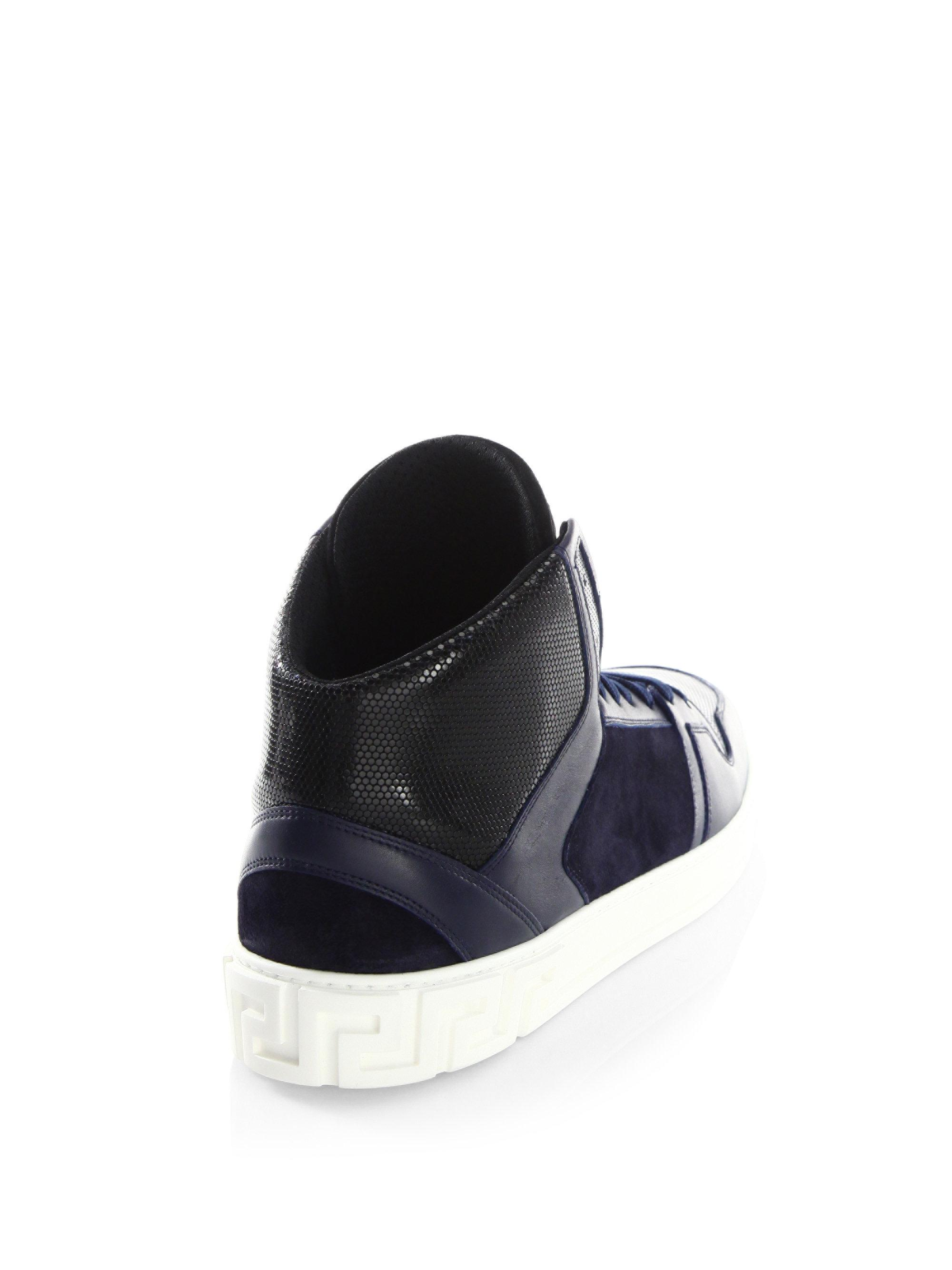 VERSACE Stylish High-Top Sneakers fcQmutRBIE