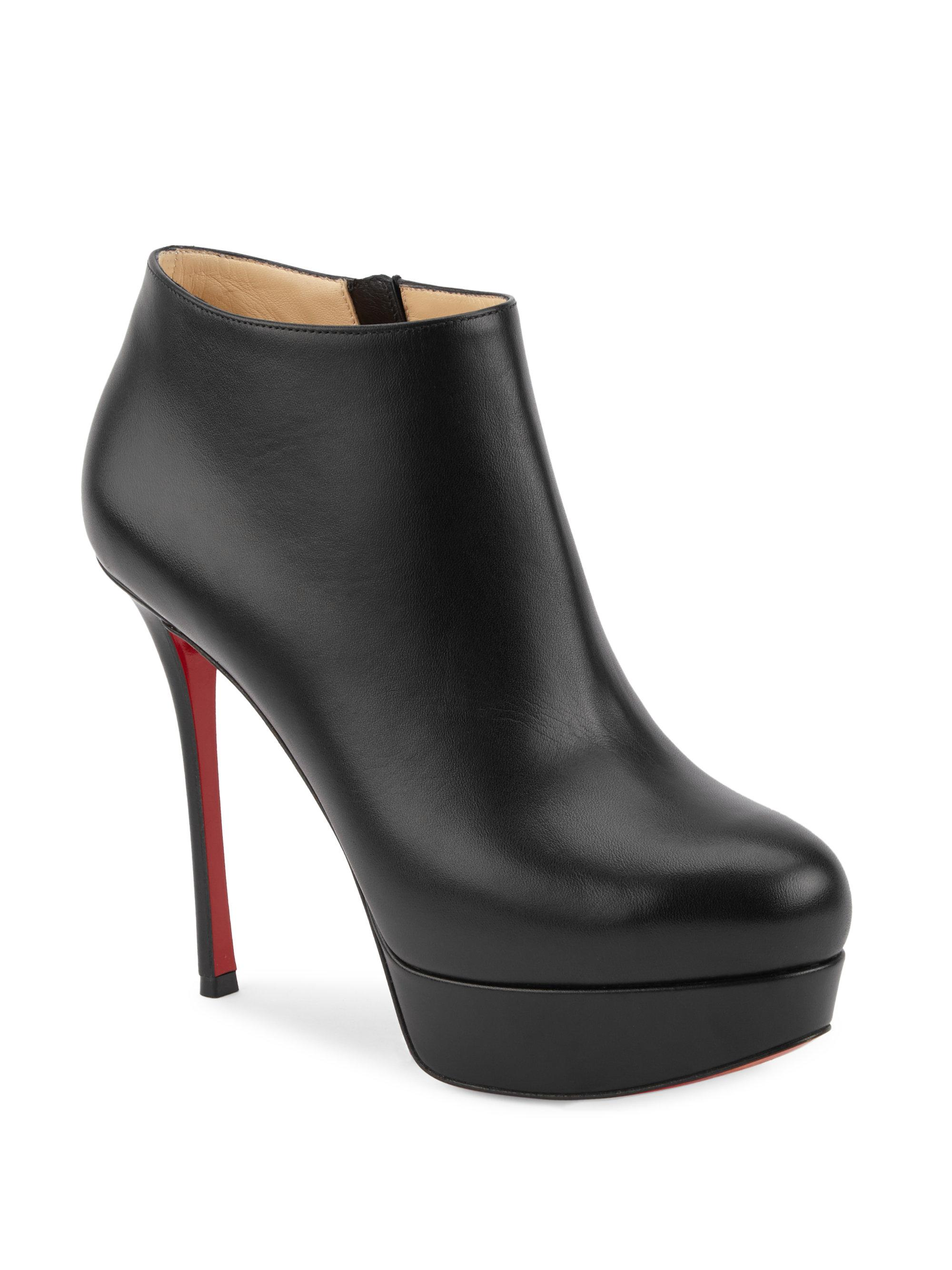 fa3a751467b6 Lyst - Christian Louboutin Dirdibootie 130 Leather Platform Booties ...