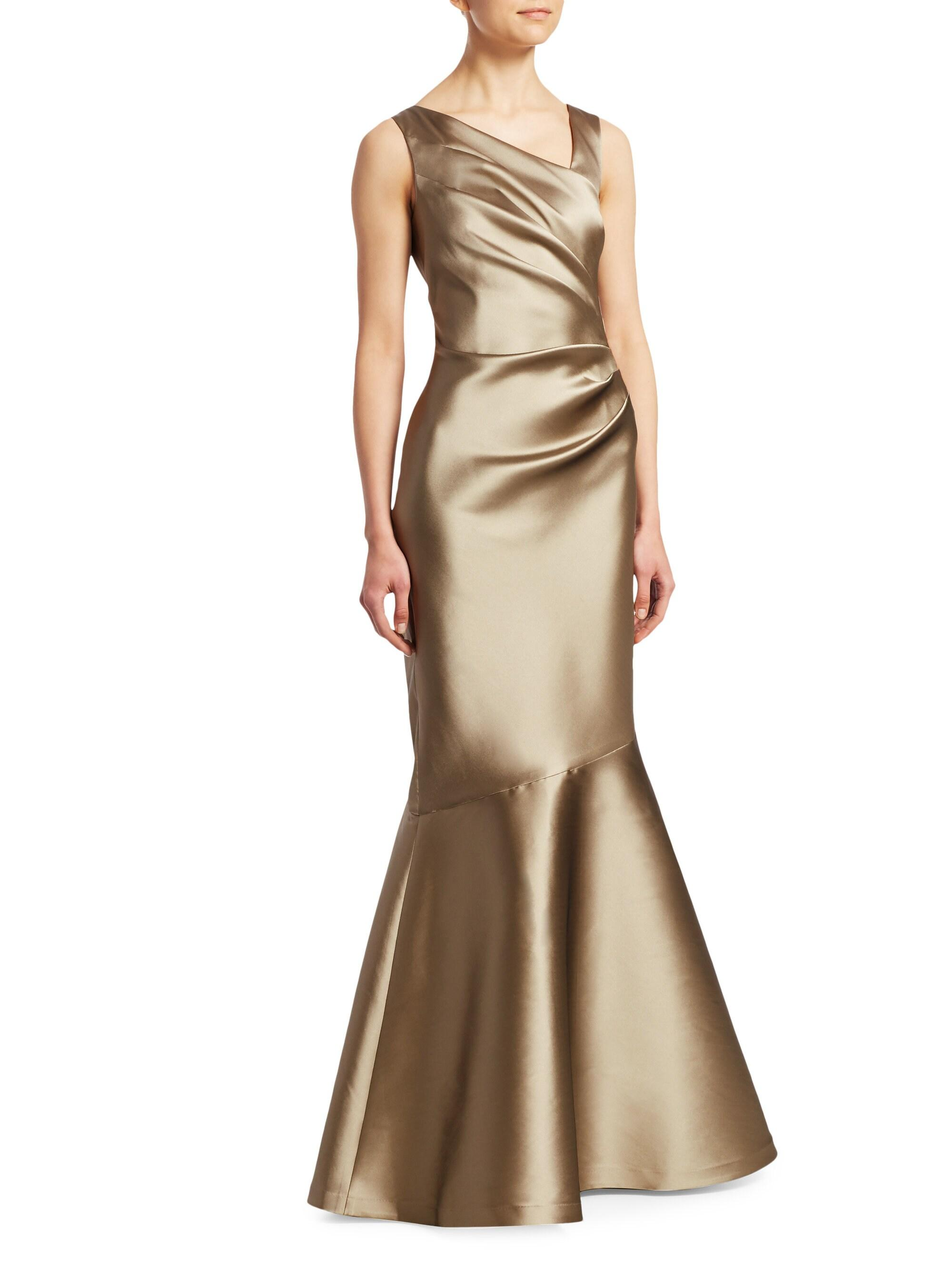aa3dc0bff7977 Teri Jon - Metallic Stretch Taffeta Mermaid Gown - Lyst. View fullscreen