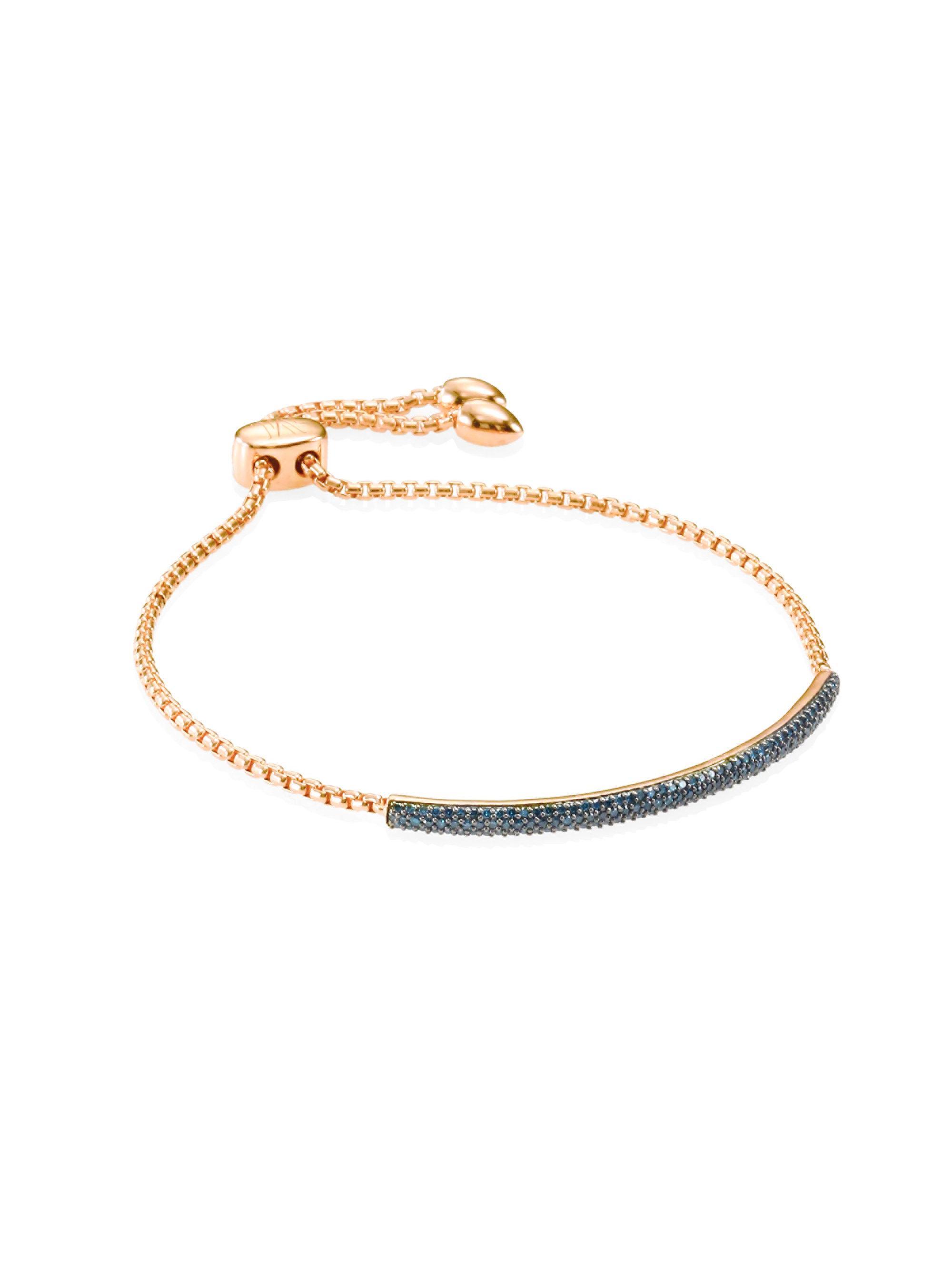 Sterling Silver Fiji Diamond Mini Bar Bracelet Diamond Monica Vinader koNDKt