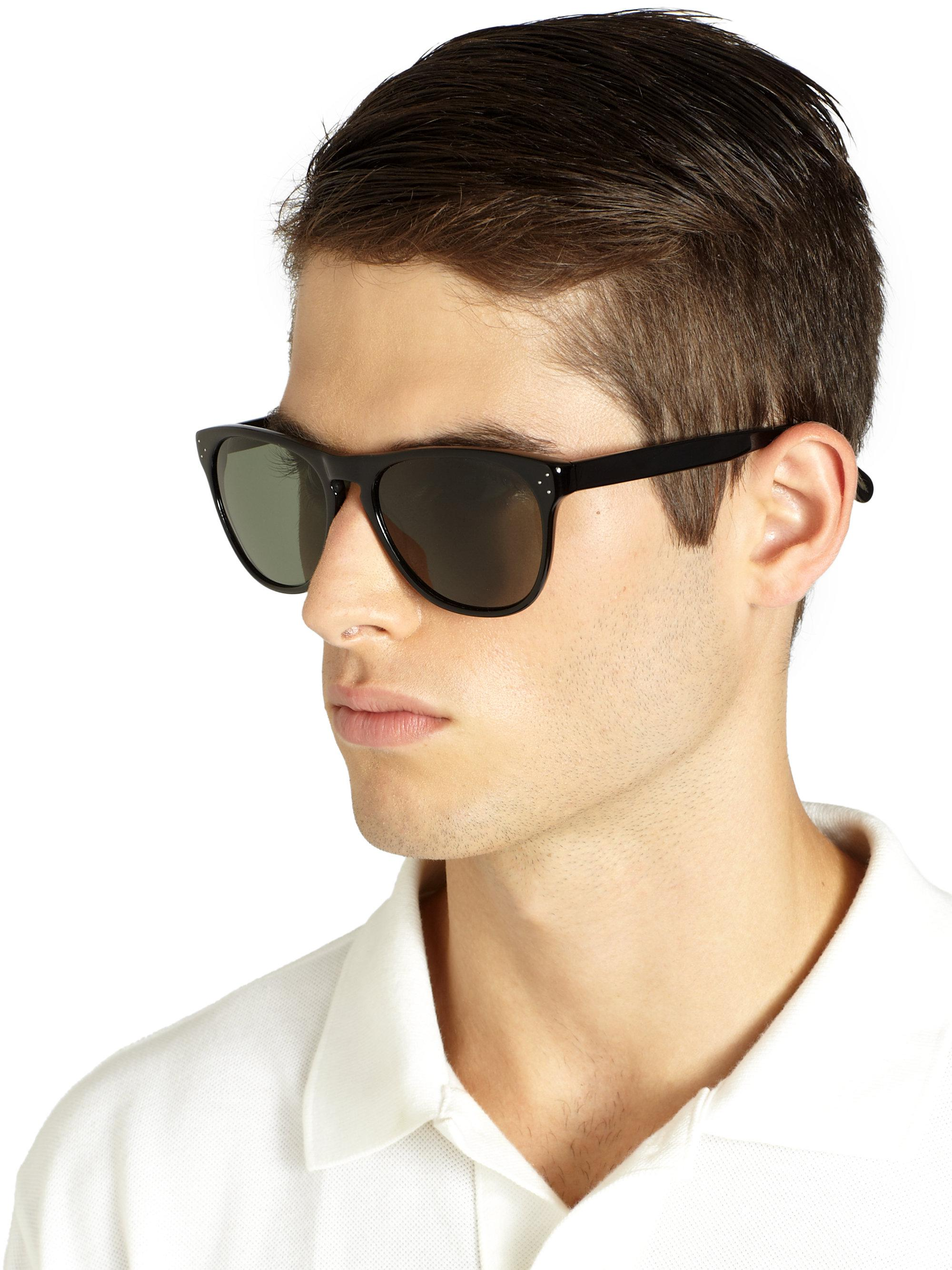 9ef8c810aed Lyst - Oliver Peoples Daddy B Sunglasses in Black
