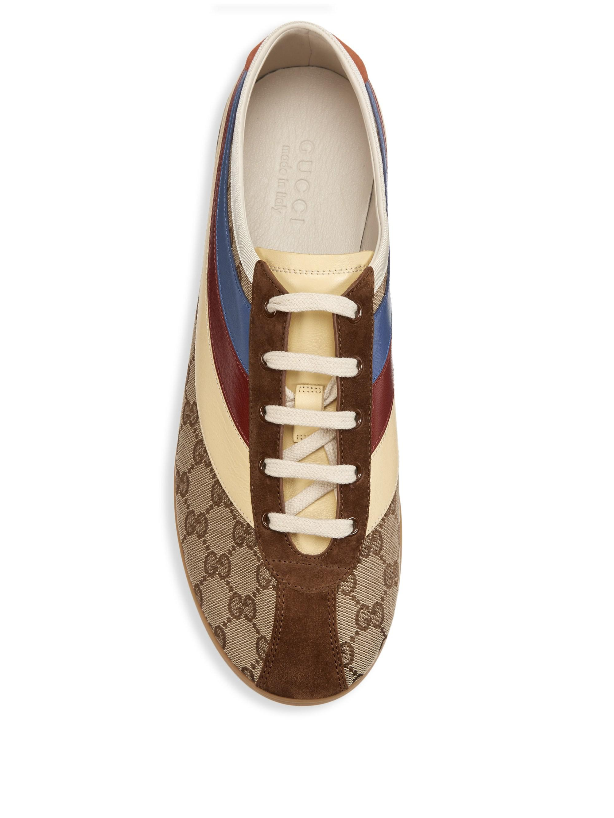 9cd621d7764 Gucci - Men s Falacer GG Sneaker With Web - Brown - Size 7.5 Uk (8.5. View  fullscreen