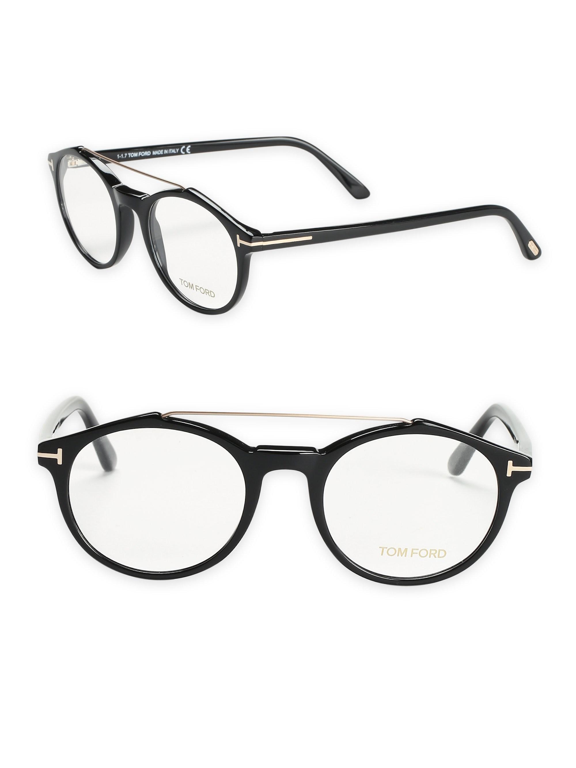 3b929f4092d Tom Ford - Men s Pilot Optical Glasses - Black for Men - Lyst. View  fullscreen