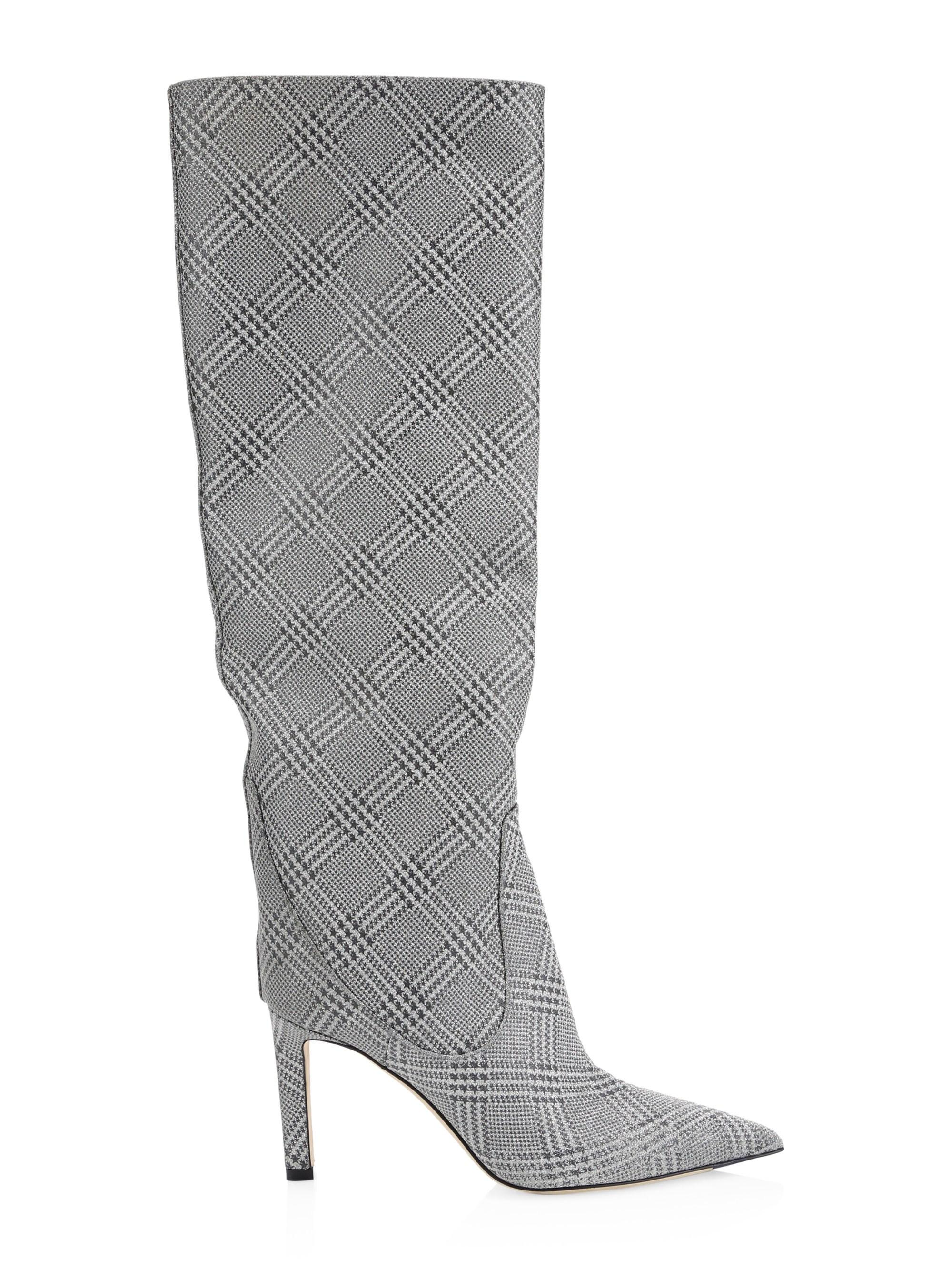 cc827fa9768 Lyst - Jimmy Choo Mavis 100 Knee High Boots in Metallic