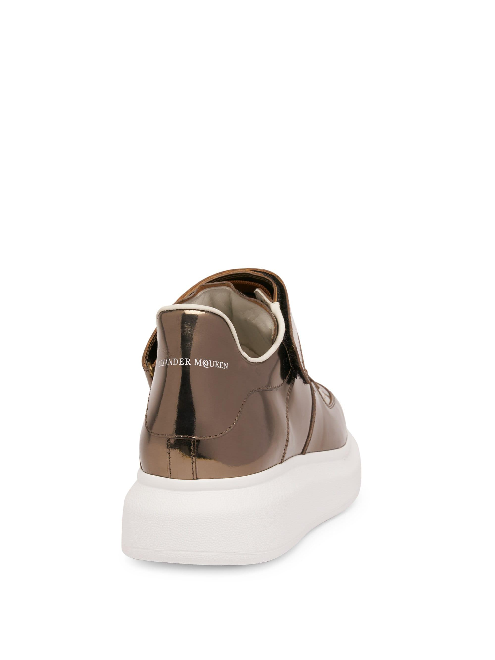 036306c3f2b Lyst - Alexander McQueen Men s Ankle Strap Leather Platform Sneakers ...