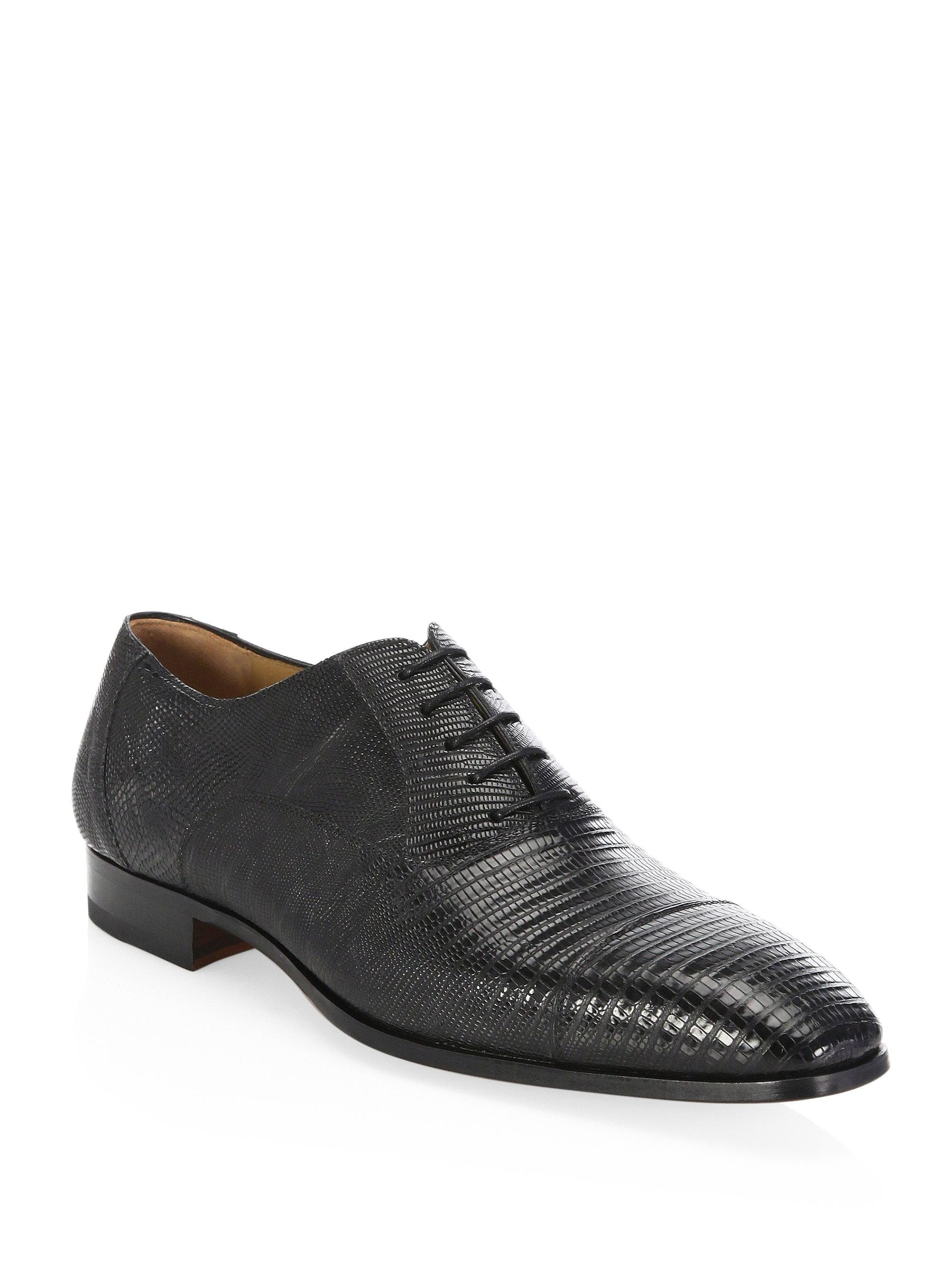 Saks Fifth Avenue COLLECTION BY MAGNANNI Lizard Monk Cap Toe Oxfords oNaN9rGDe