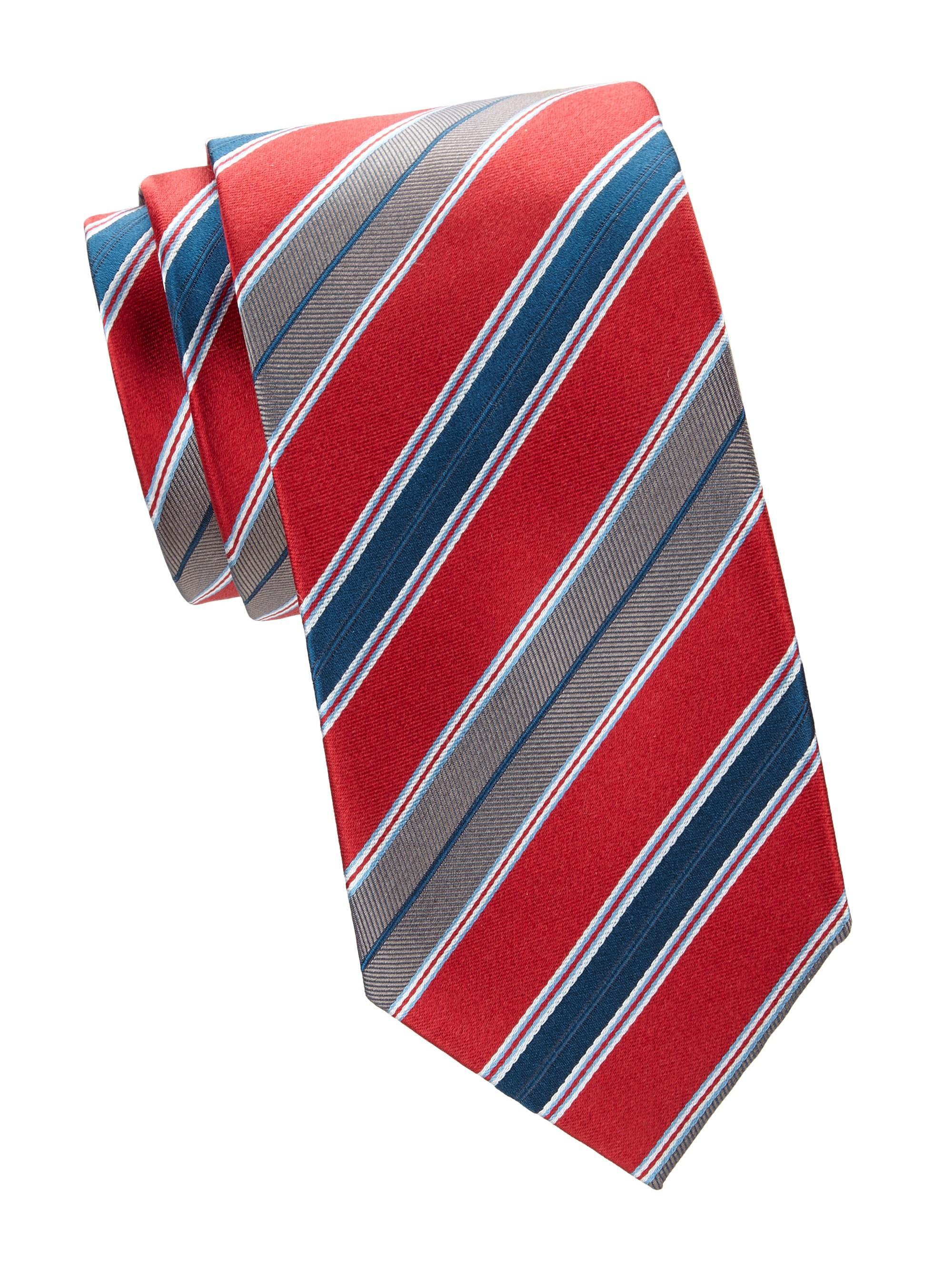 fe1920759367a Brioni Men's Regimental Diagonal Stripe Silk Tie - Purple Dark in ...