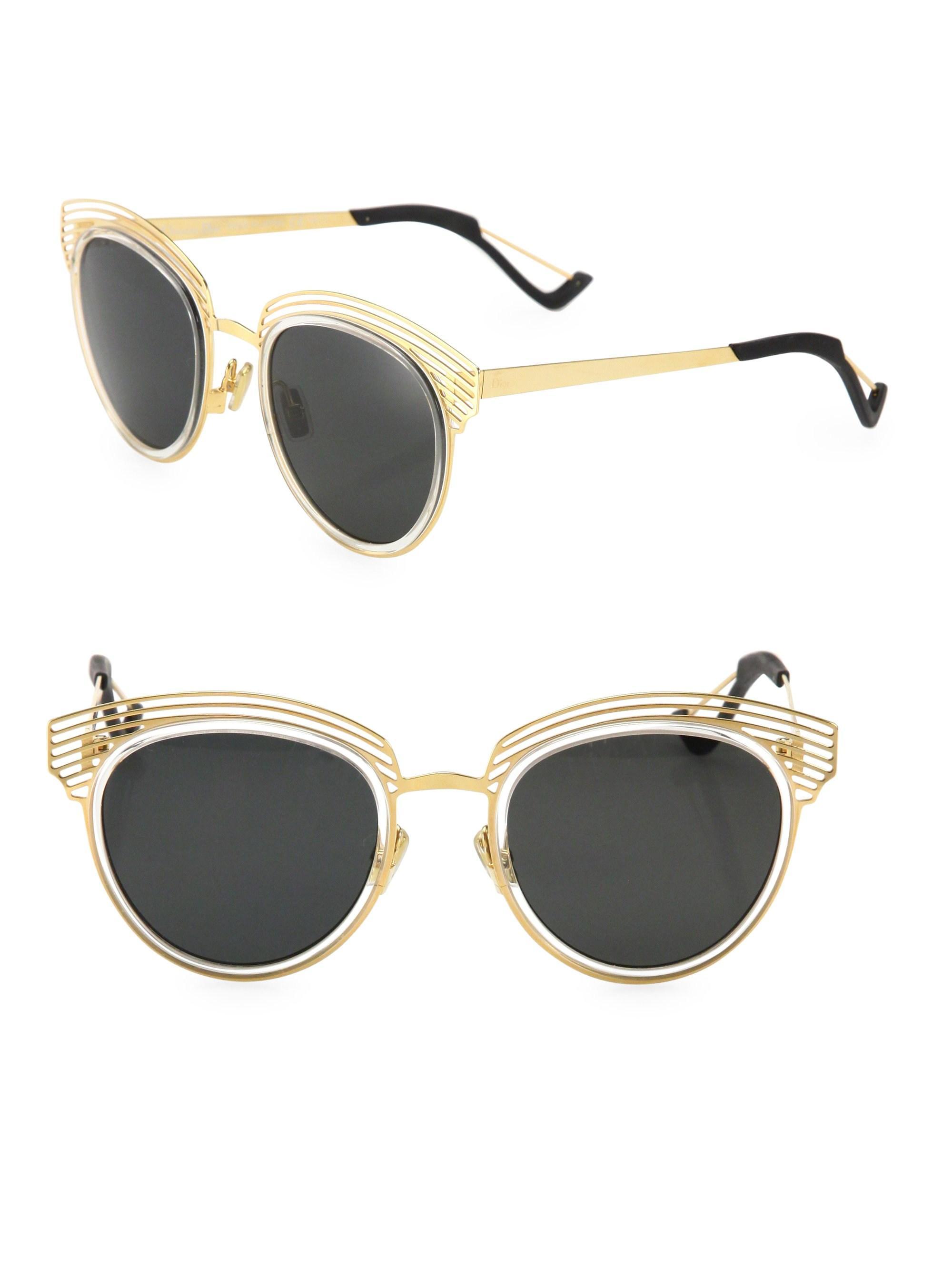 5420bf7452b2 Dior Enigme 51mm Aviator Sunglasses in Metallic - Lyst