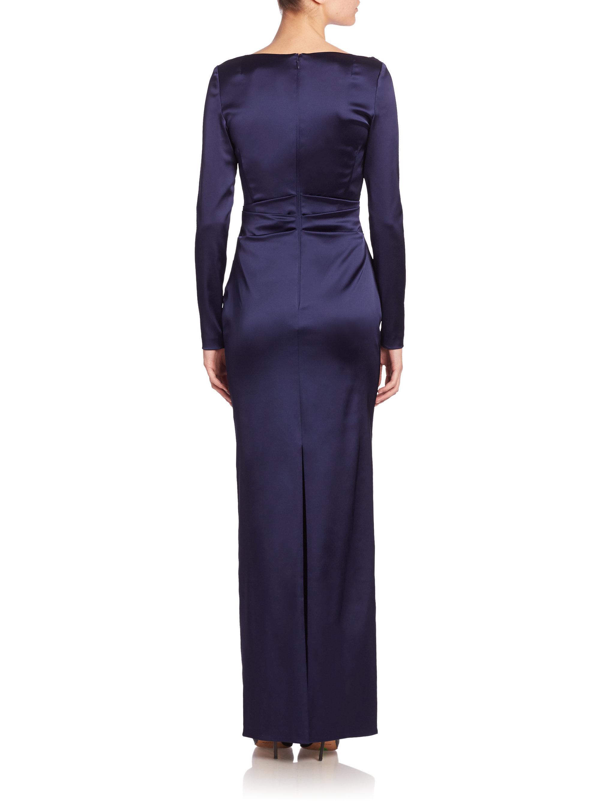 a39984d6ebad3 Lyst - Talbot Runhof Stretch Satin Duchesse Gown