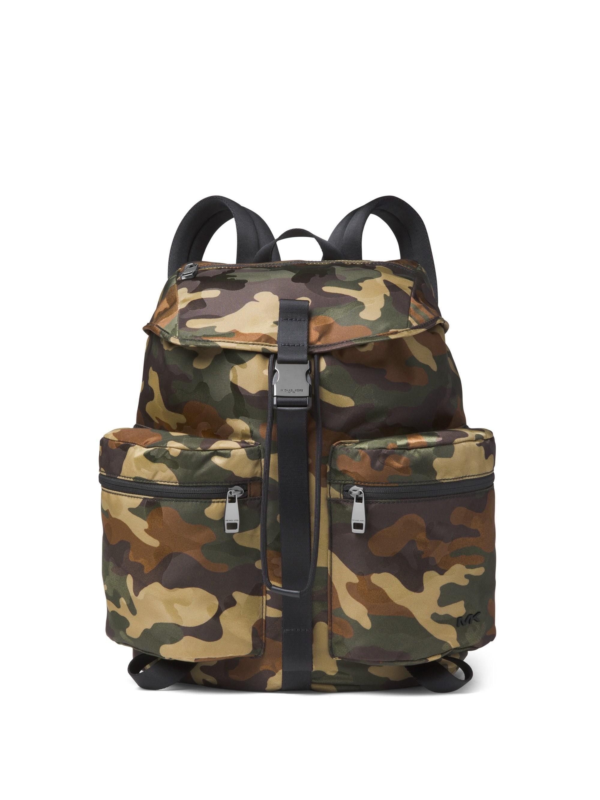 3bc9f7378395 Michael Kors Kent Sport Zip Camo Backpack in Green for Men - Lyst