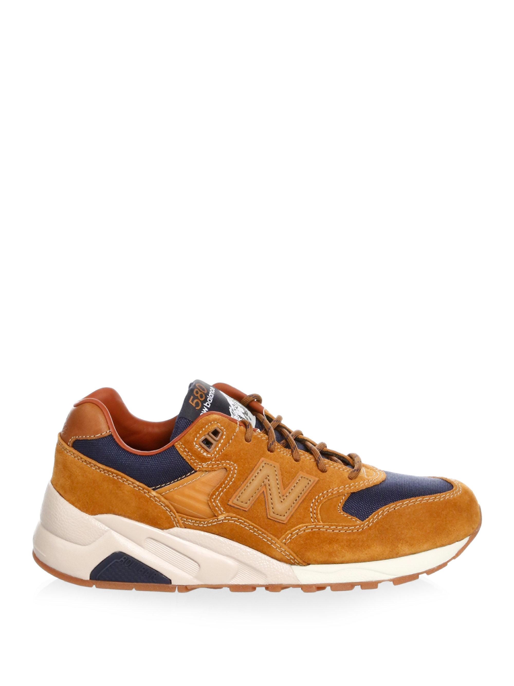 New Balance Suede & Mesh Contrast Sneakers Iv729yhBZl