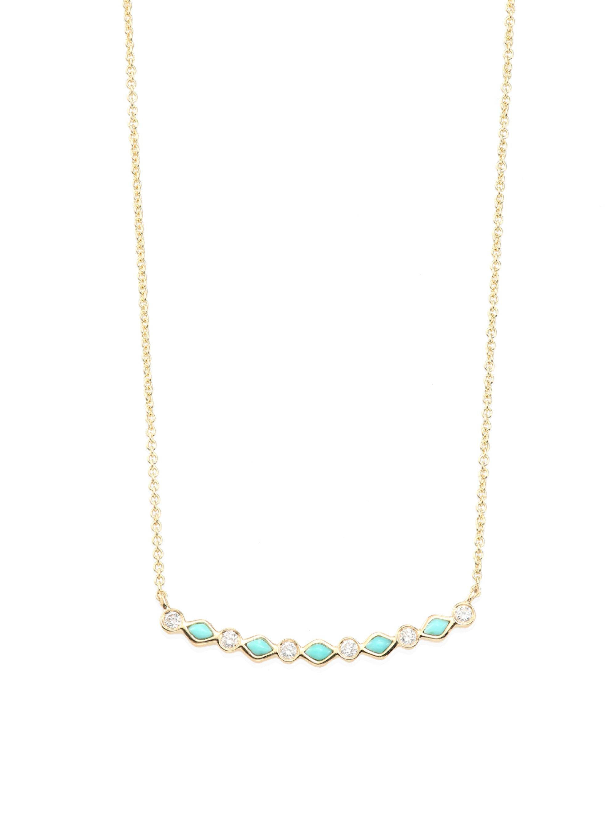 Sydney Evan Pearl Bar Necklace KJma59