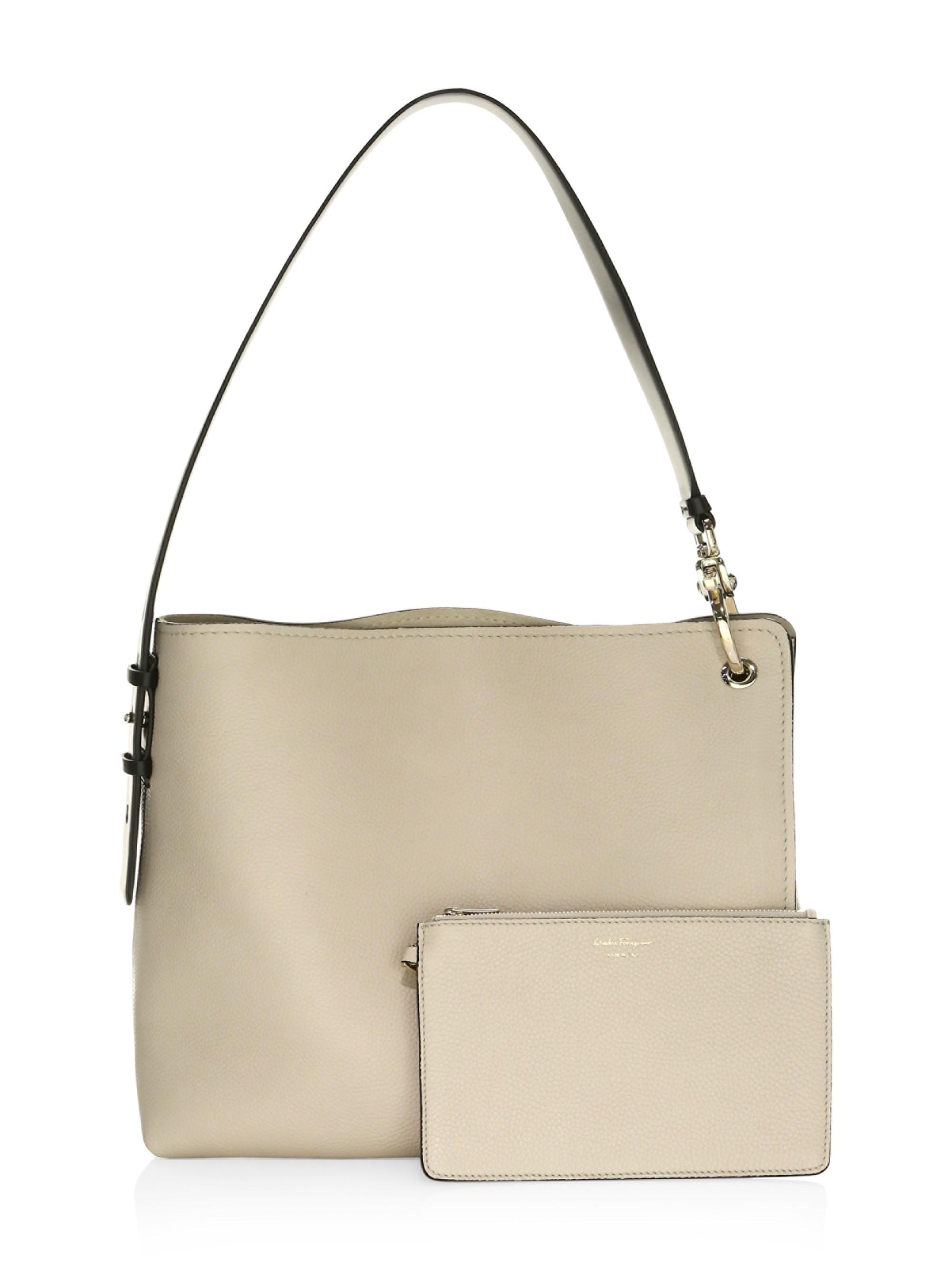 Lyst - Ferragamo Medium Minerva Leather Hobo Bag 426522c85e5b6