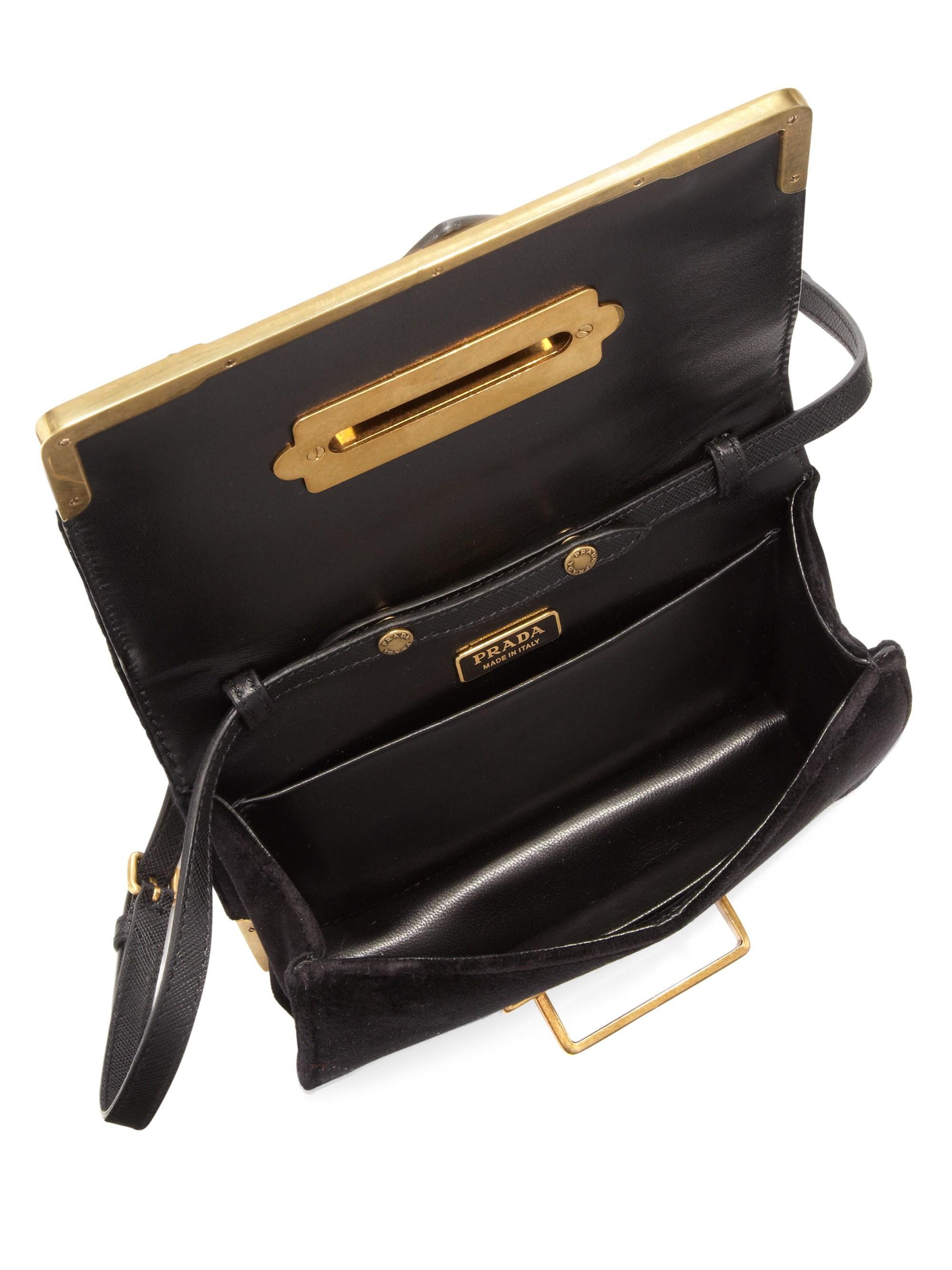 534466962dd9 Prada Women s Small Velvet Astrology Cahier Bag - Black in Black - Lyst