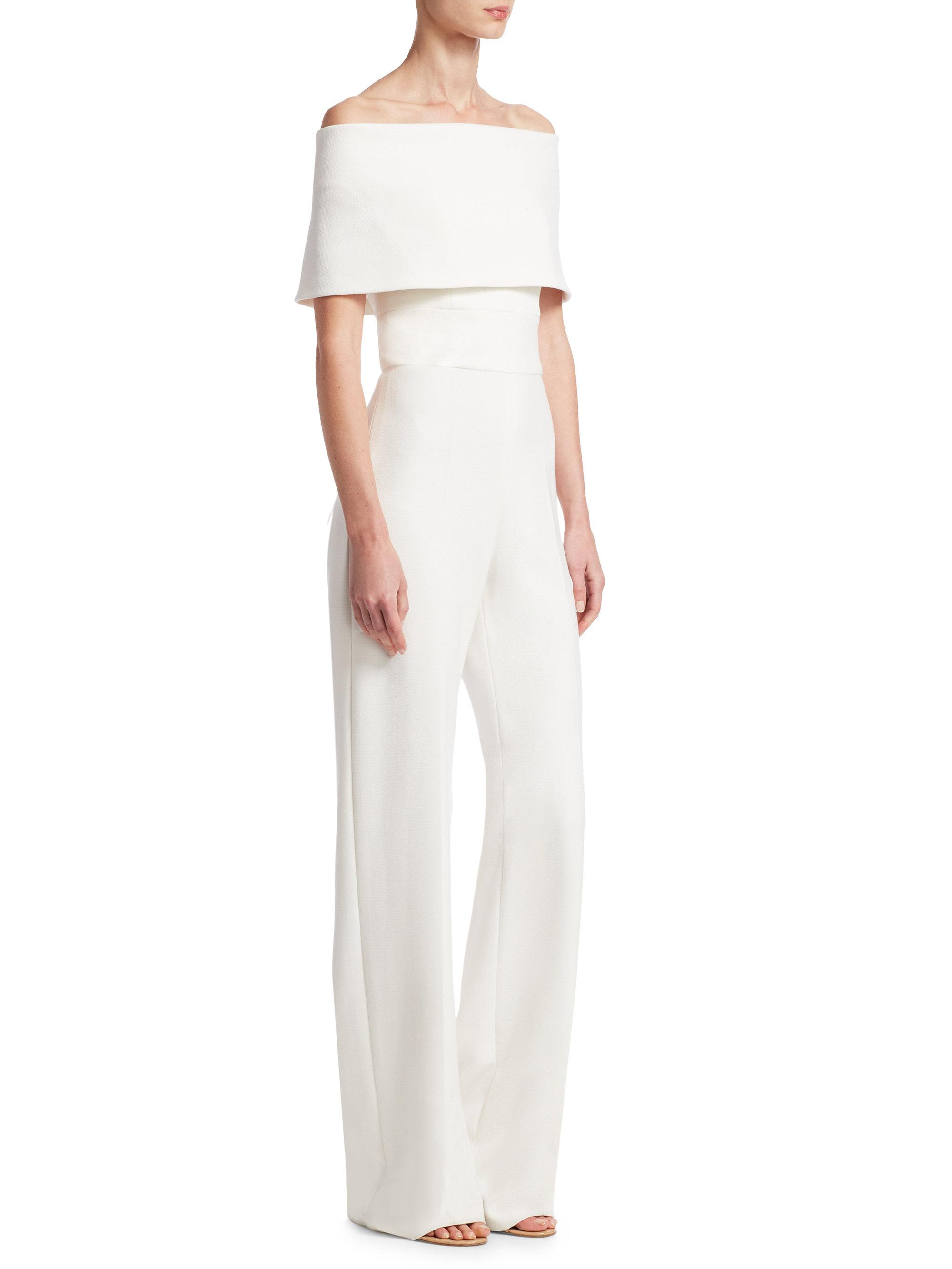88ed4ae48a7 Lyst - Lela Rose Off-the-shoulder Jumpsuit in White