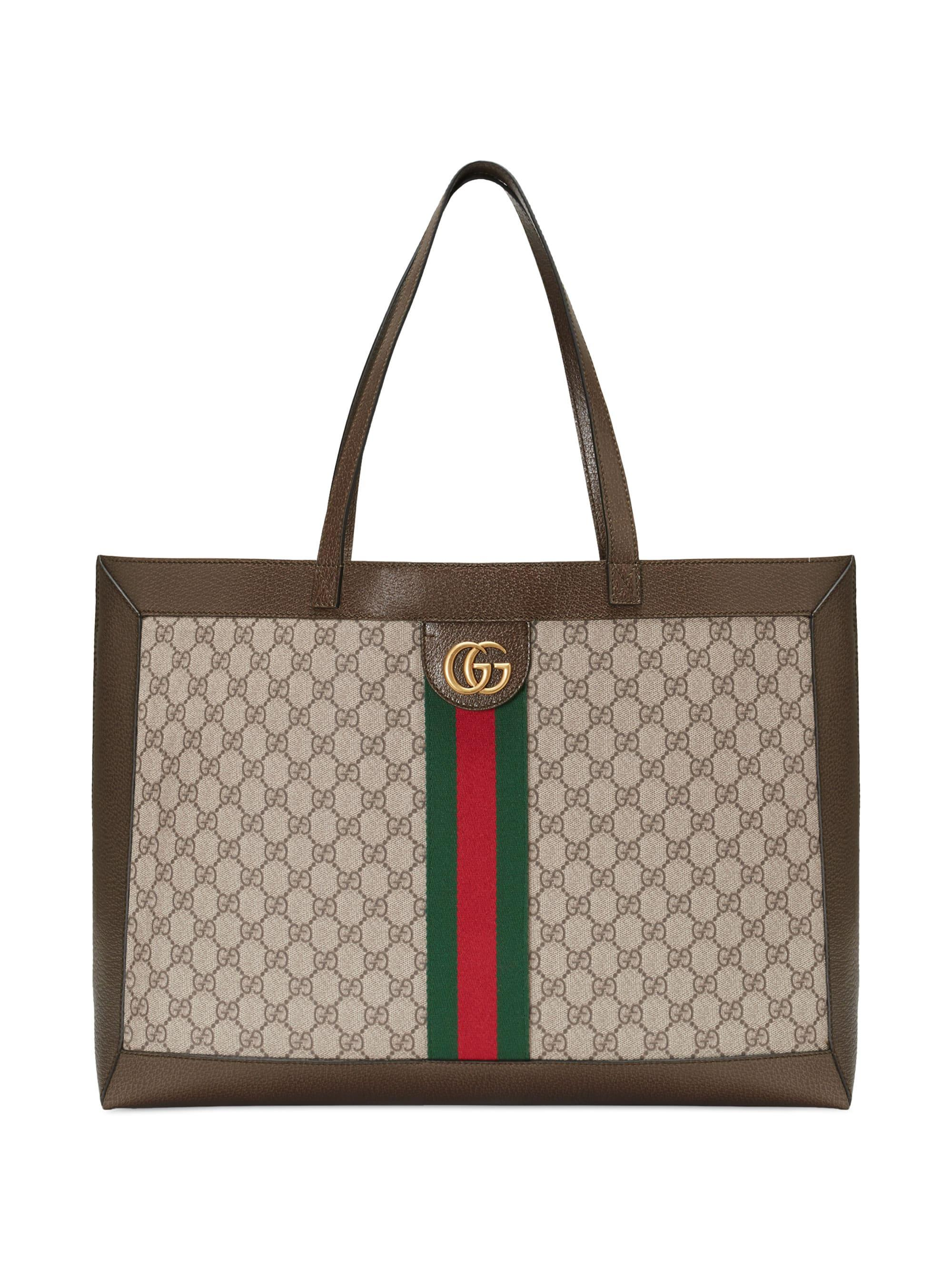 4789be4ce2382c Lyst - Gucci Women's Large Ophidia Tote - Beige Chocolate