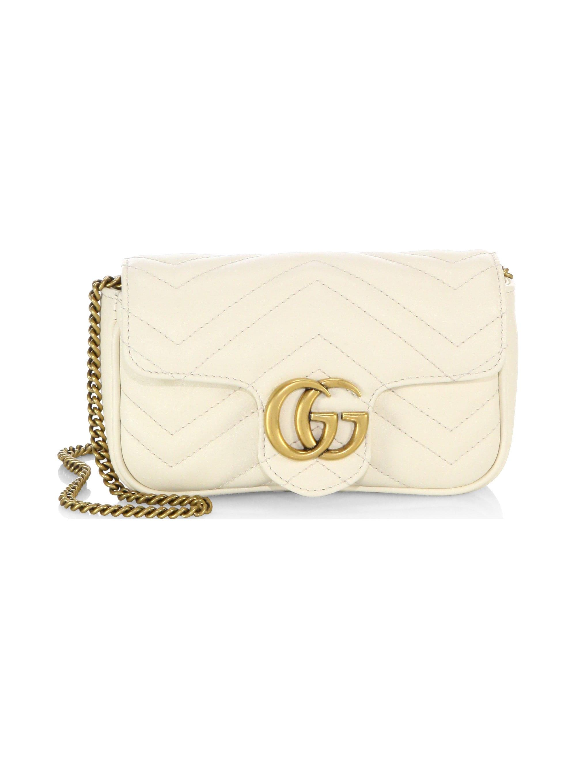 8b163c63c52 Lyst - Gucci Gg Marmont Matelasse Leather Mini Chain Shoulder Bag in ...