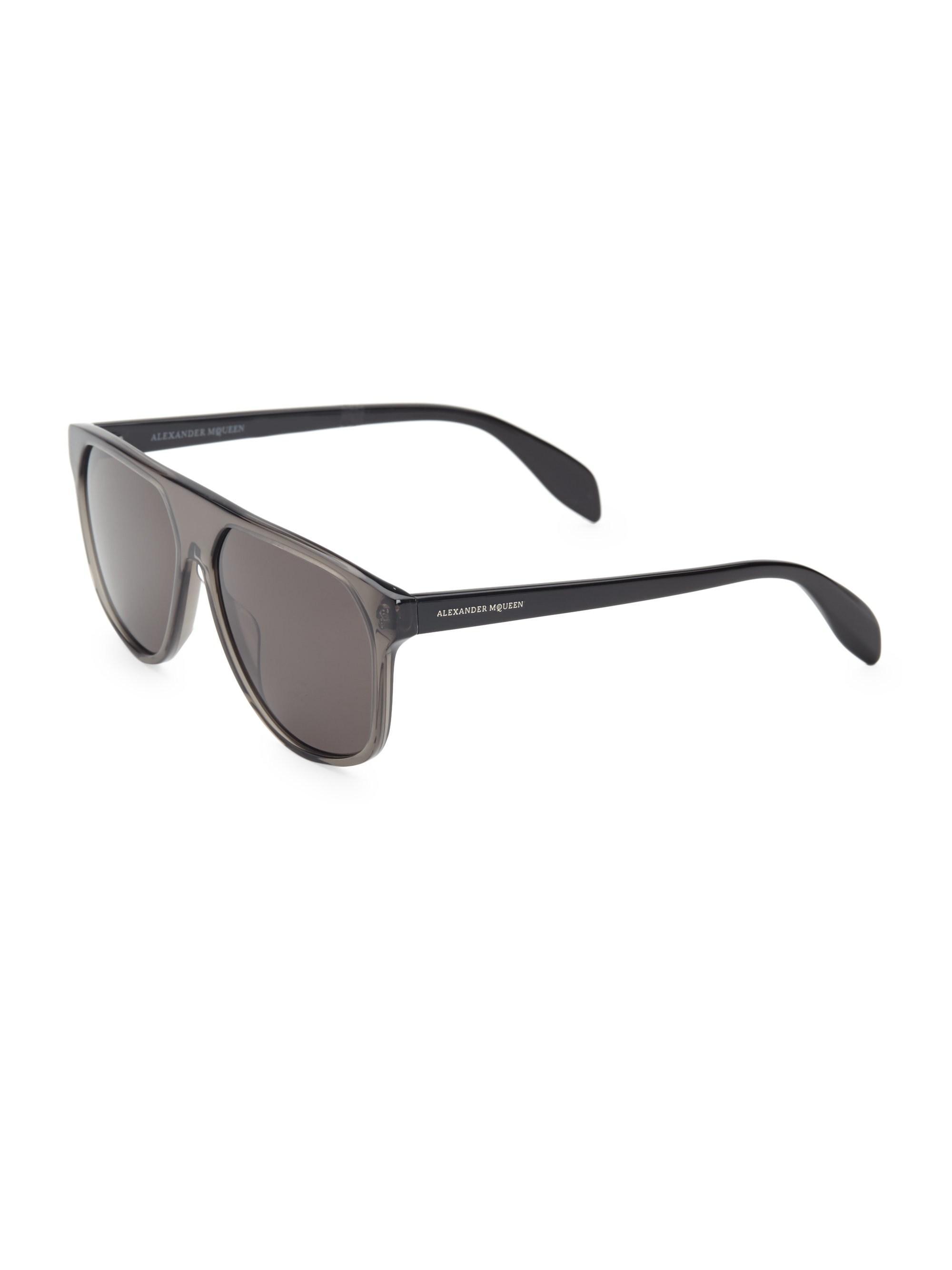 fad65ae610ae Alexander McQueen 58mm Ghost Skull Square Sunglasses in Gray for Men ...