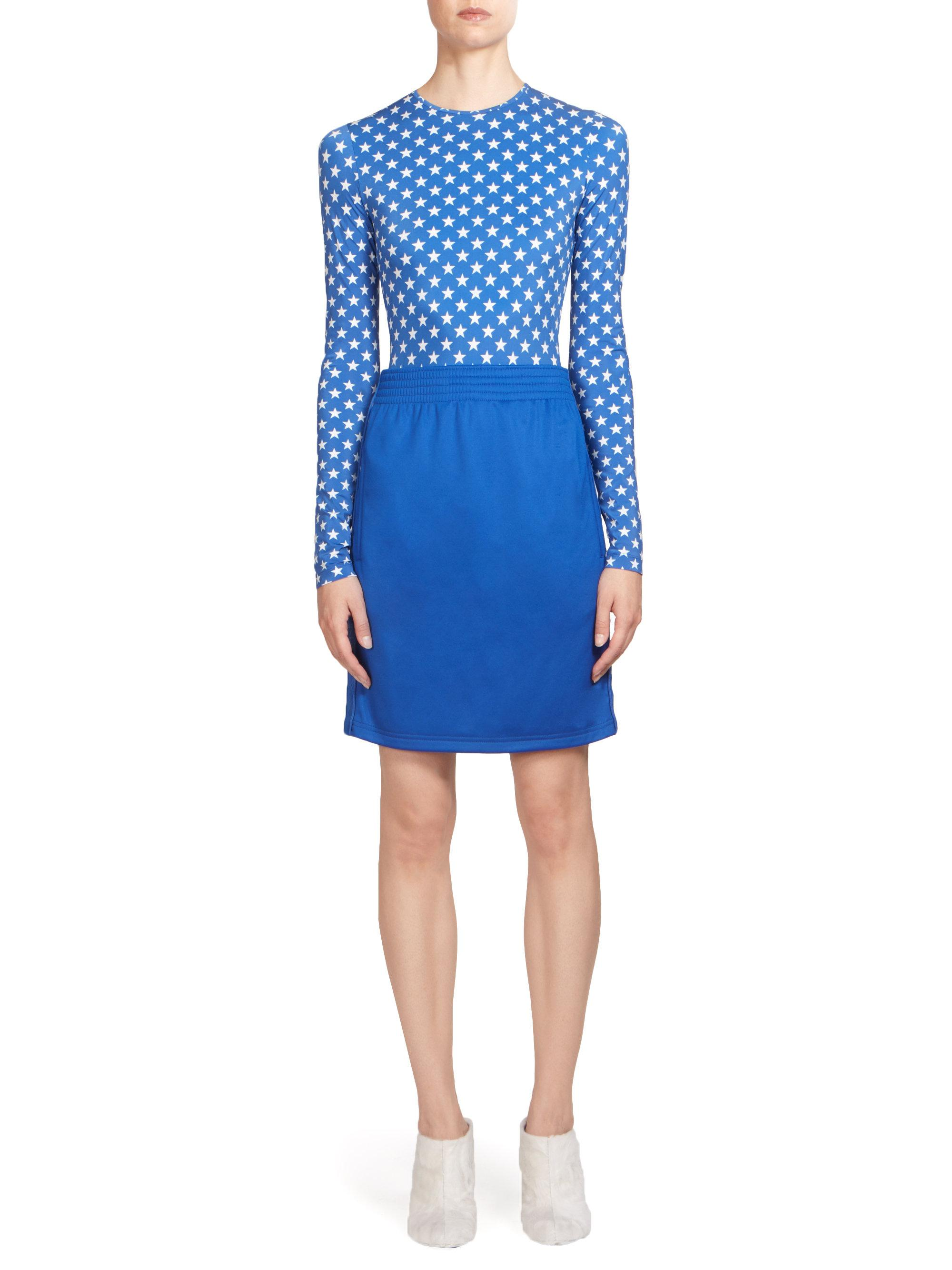 9efbbebba5a67 Lyst - Givenchy Star Print Bodysuit in Blue