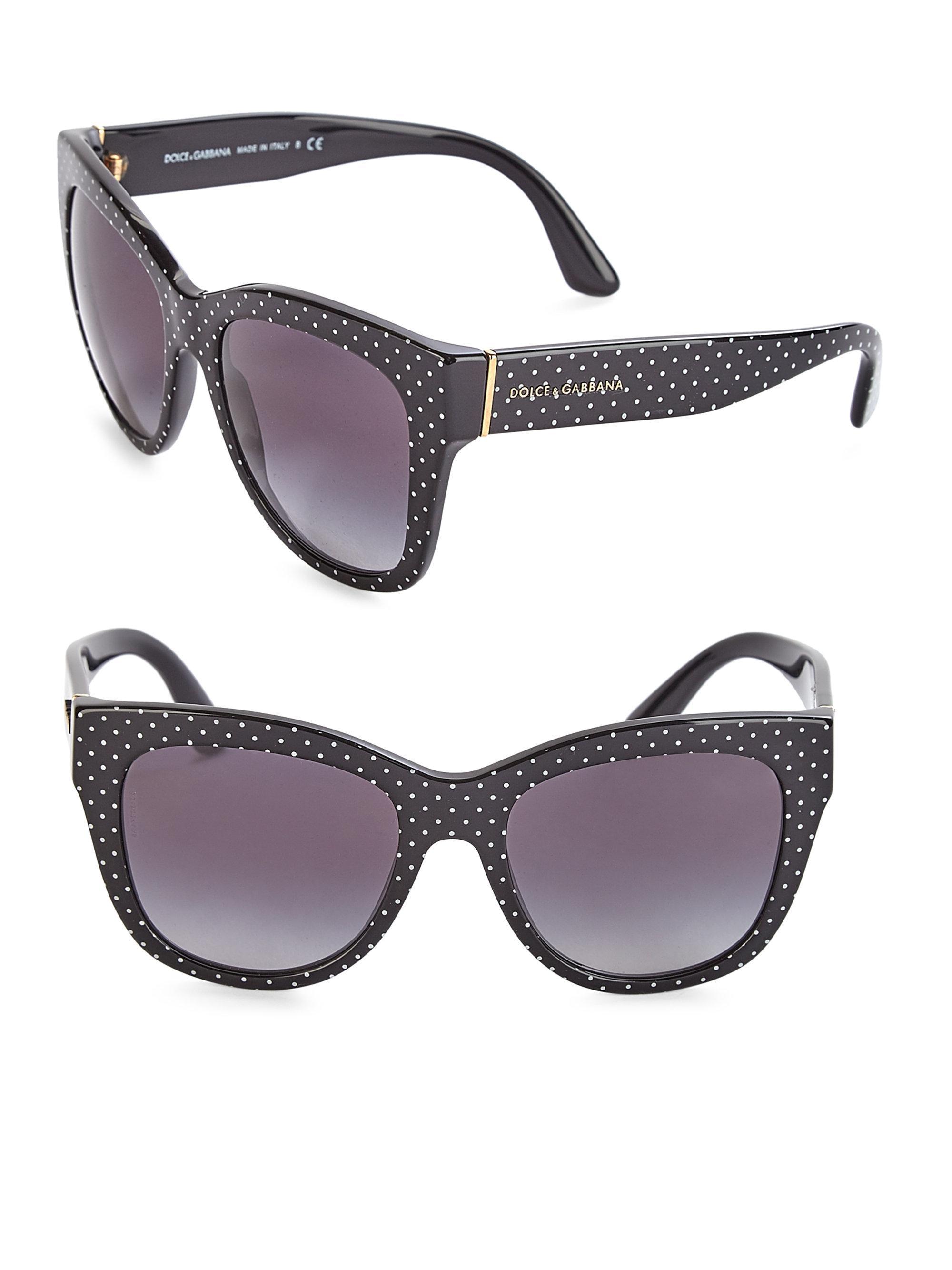 6b37e29980dd Lyst - Dolce & Gabbana 55mm Square Floral Acetate Sunglasses