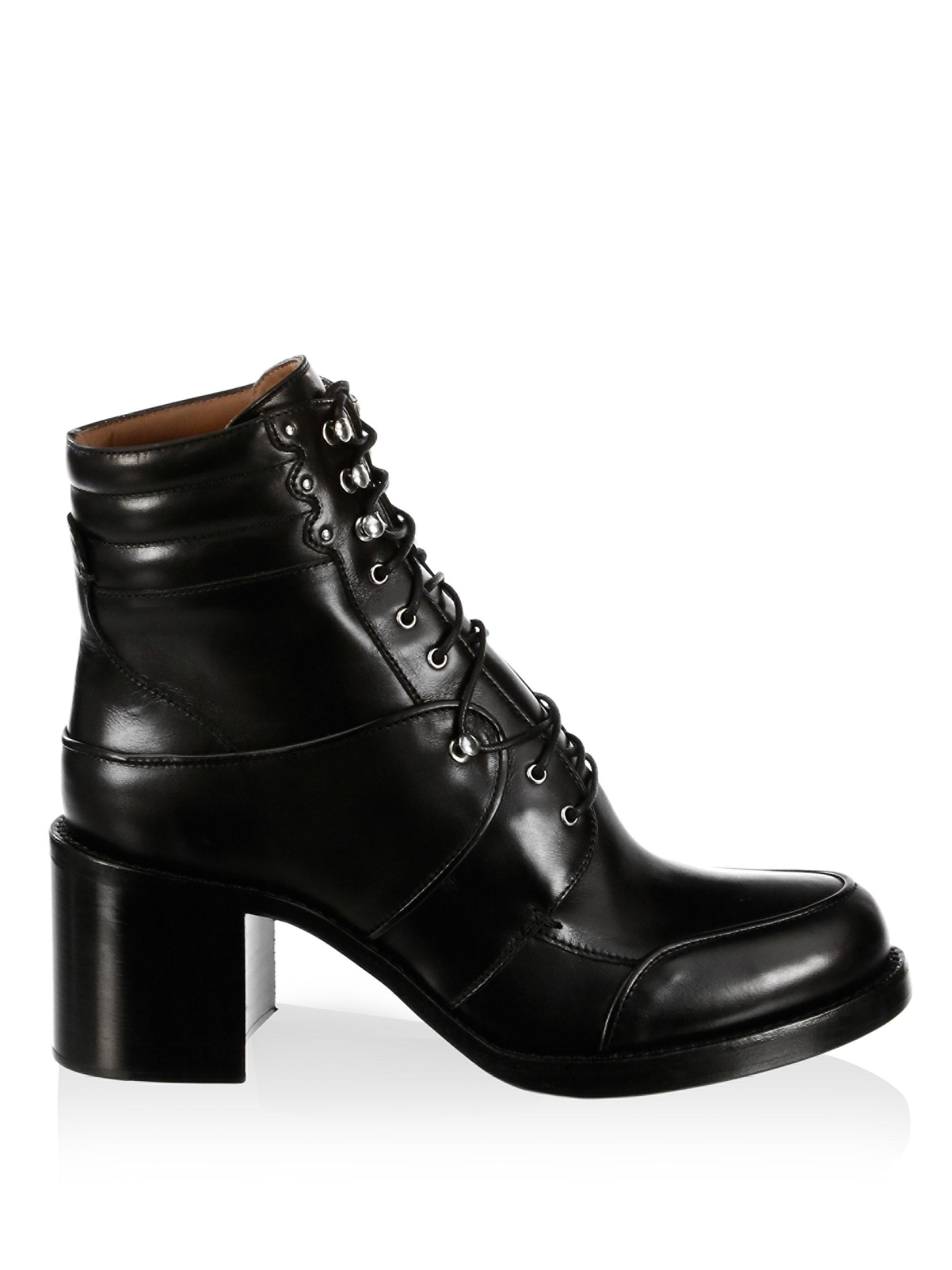 Tabitha Simmons Max Leather Combat Boots UrAOIxdiw