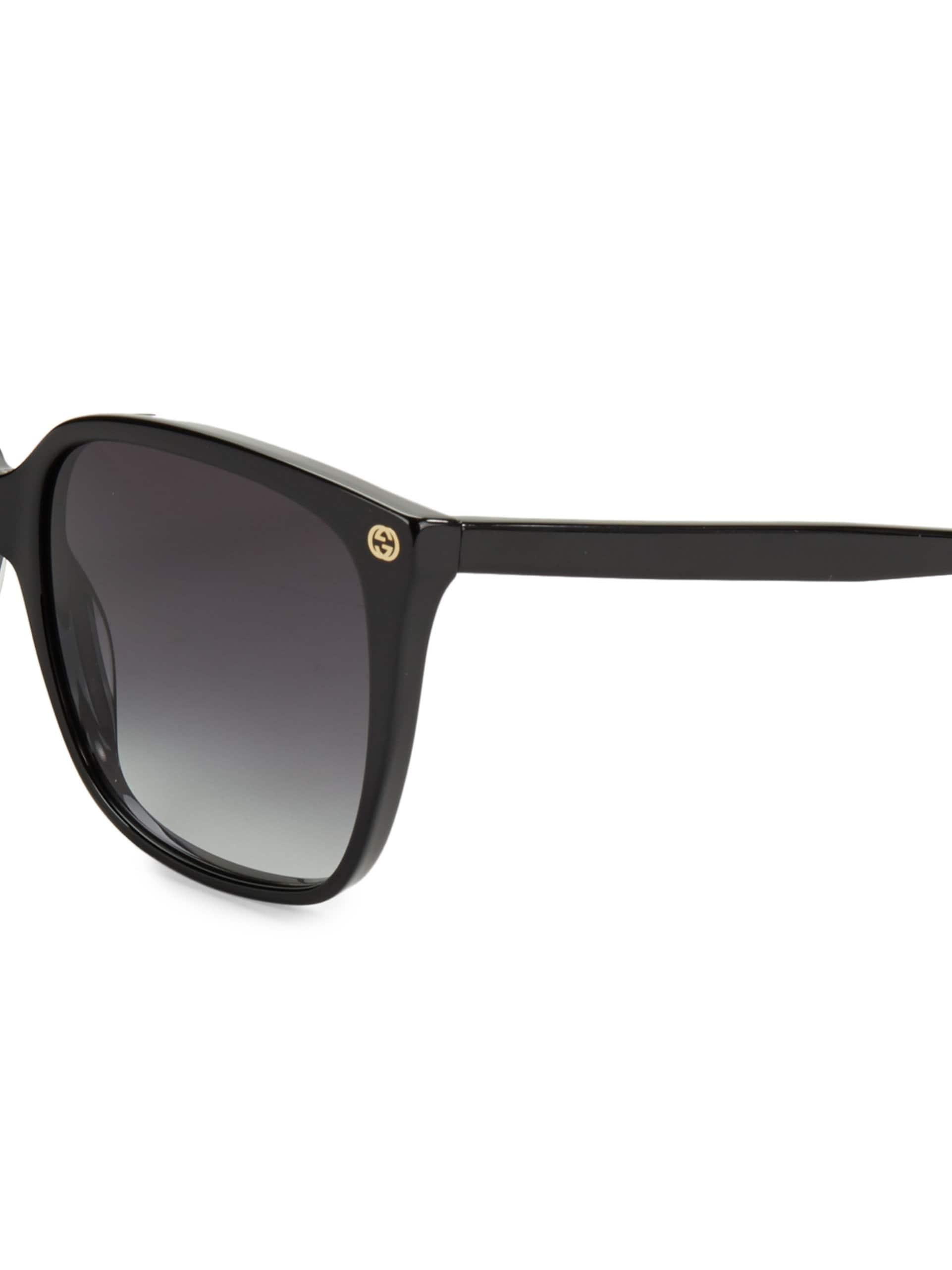 642966db9 Gucci - Women's 57mm Square Sunglasses - Black - Lyst. View fullscreen