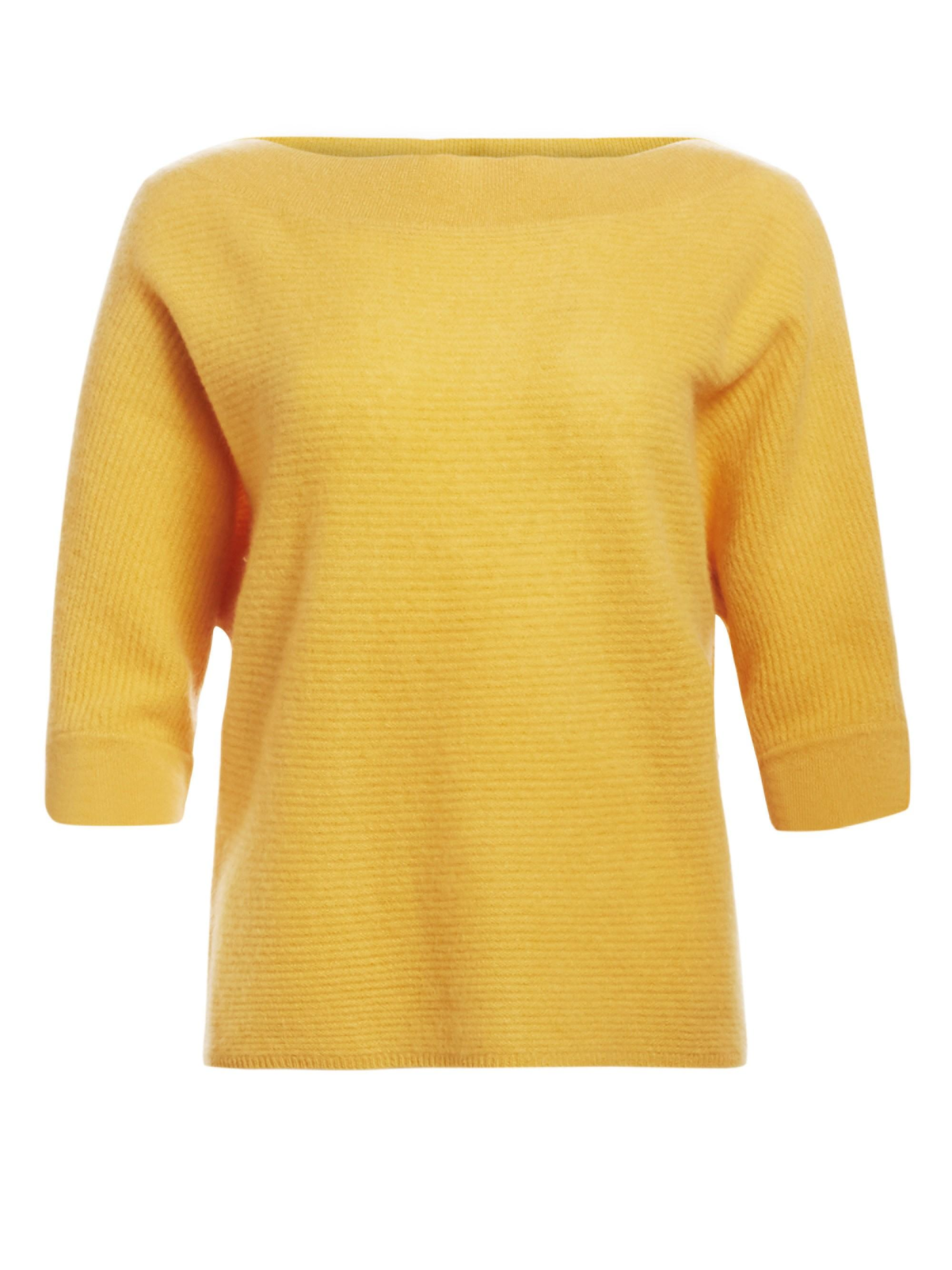 a1cba05772 Saks Fifth Avenue. Yellow Women s Link Stitch Boatneck Cashmere Jumper ...