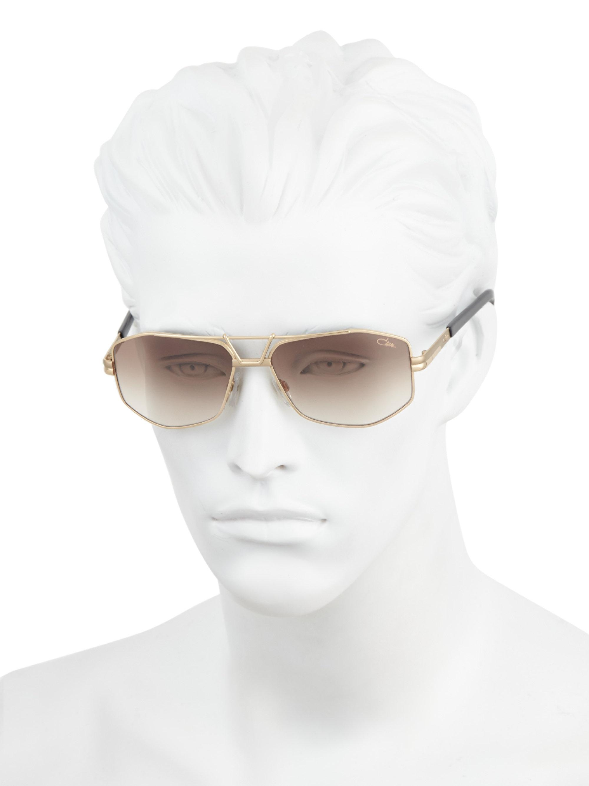 2d68d8422a Cazal - Metallic 61mm Modified Aviator Sunglasses for Men - Lyst. View  fullscreen