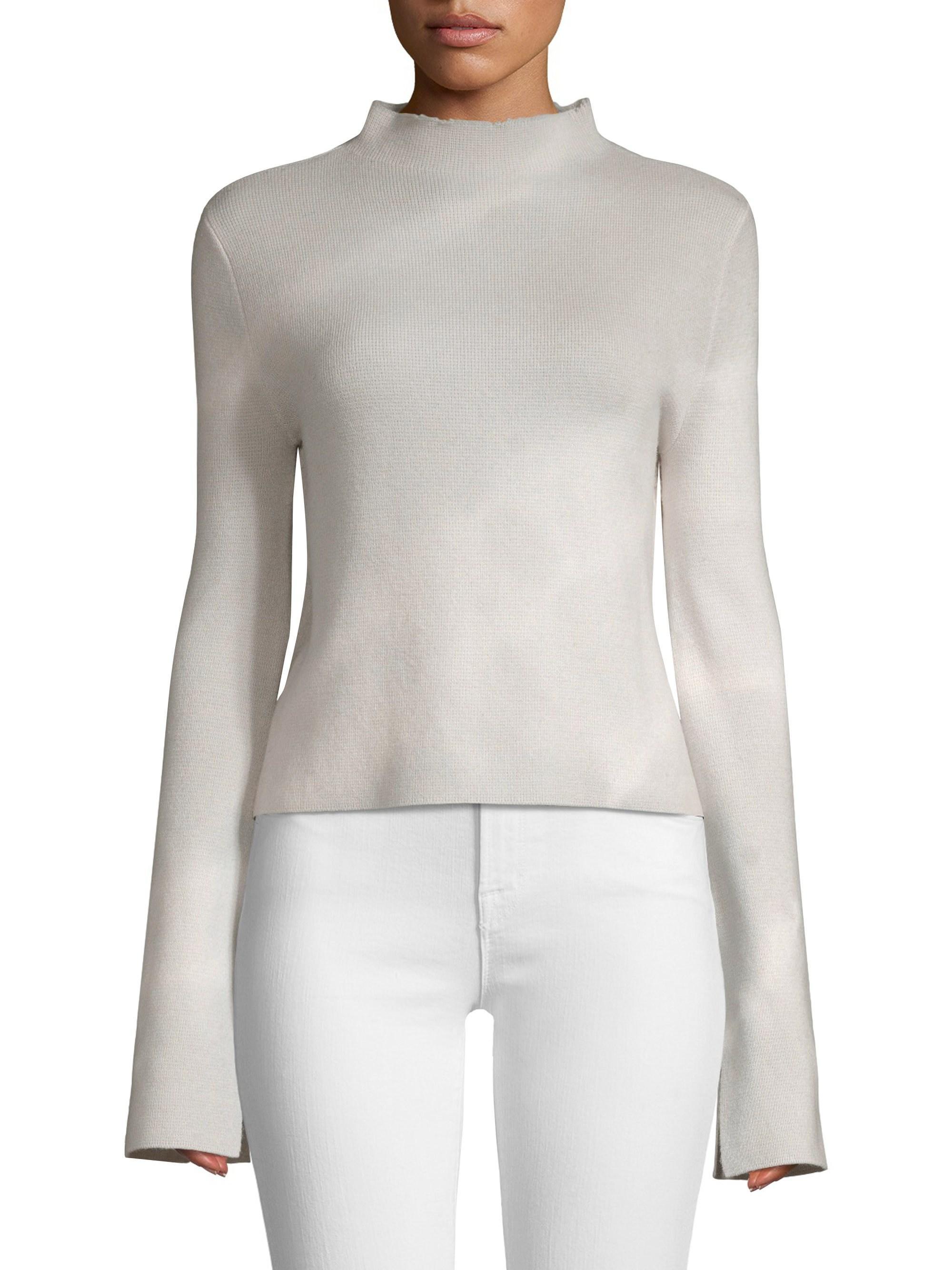 95301e99ab36 Zoe Jordan - Women s Munday Cashmere   Wool Funnelneck Sweater - Ash White  - Lyst. View fullscreen