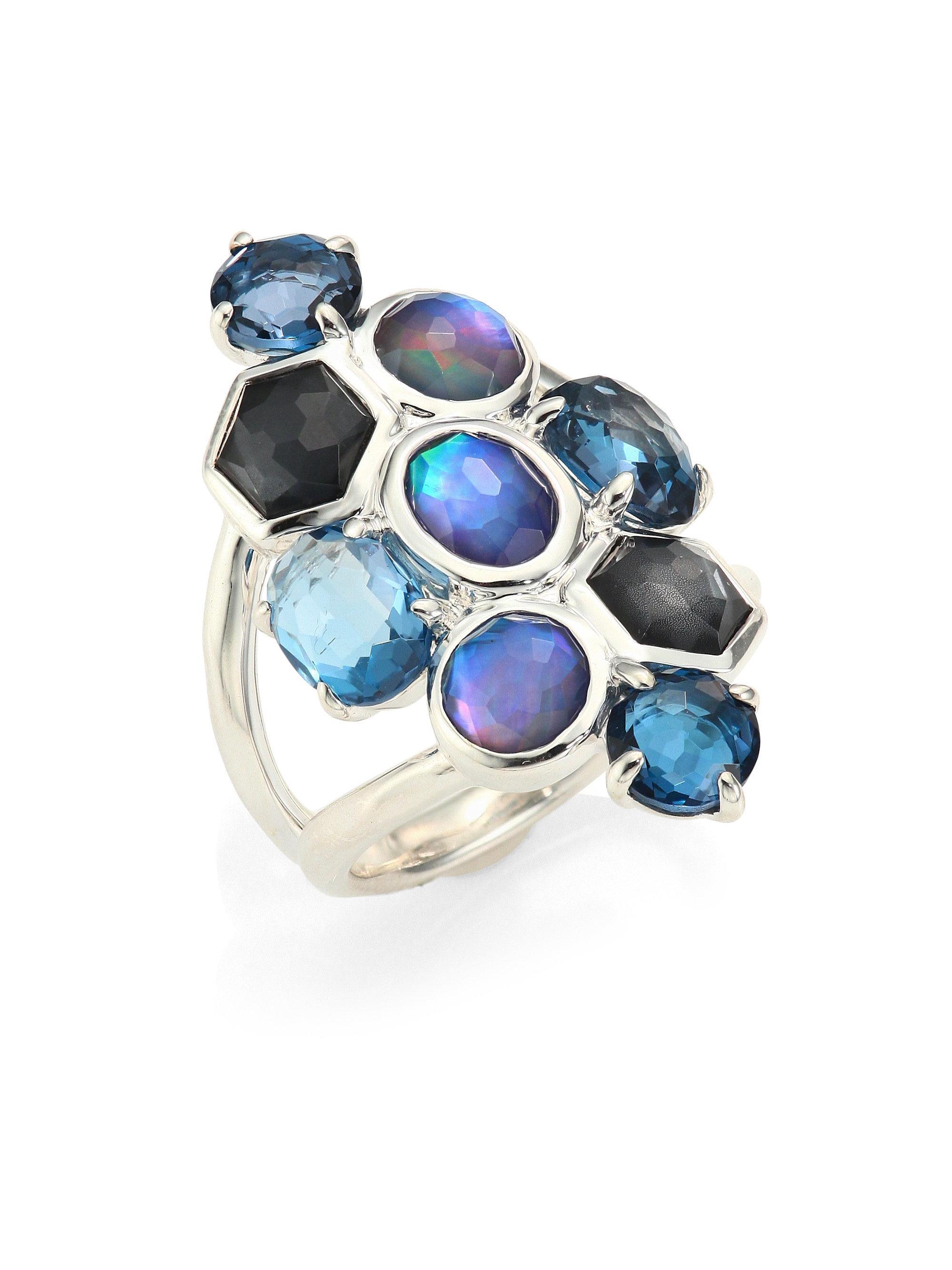 Ippolita 925 Rock Candy Six-Stone Open Ring in Eclipse UNc7d97cuM