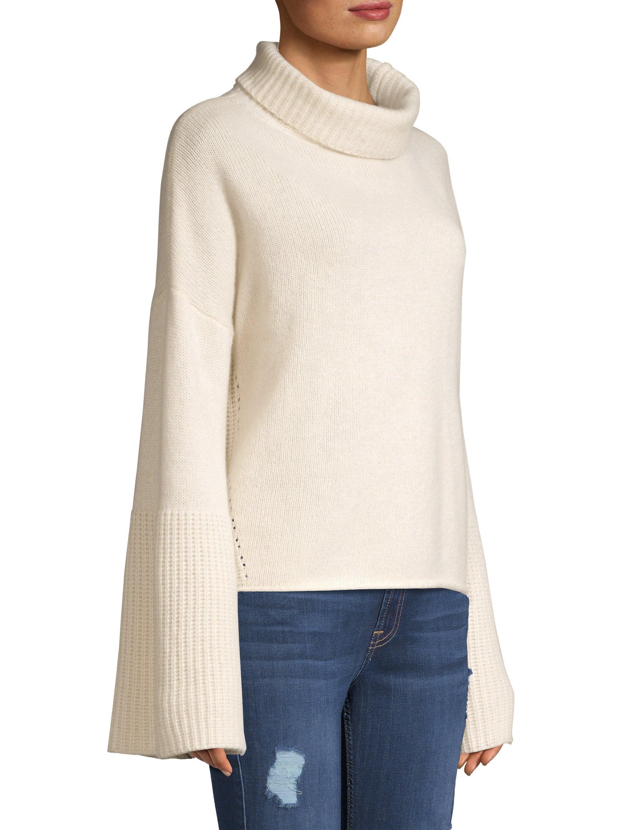 a031dc4b516 360cashmere Lulu Bell Sleeve Turtleneck Sweater - Lyst