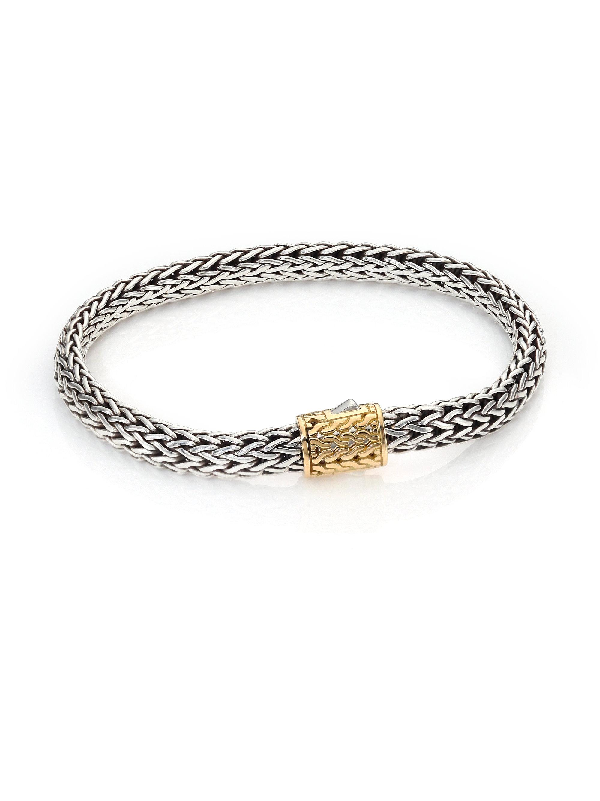 John Hardy Gold-Accent Small Cable-Chain Bracelet u17VHnHW64