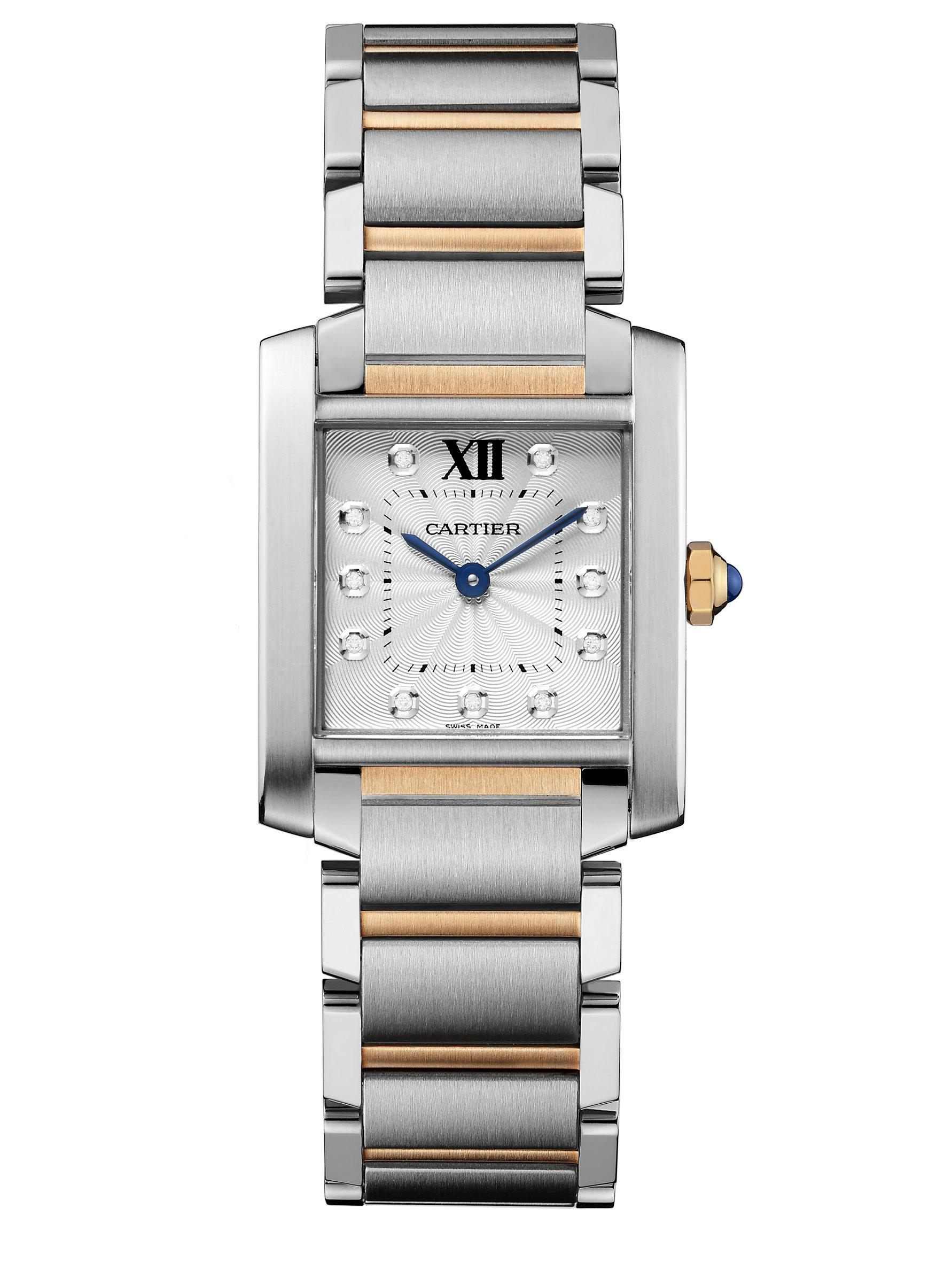 watches brands tank stainless bucherer steel ladies silver quartz dial cartier francaise watch