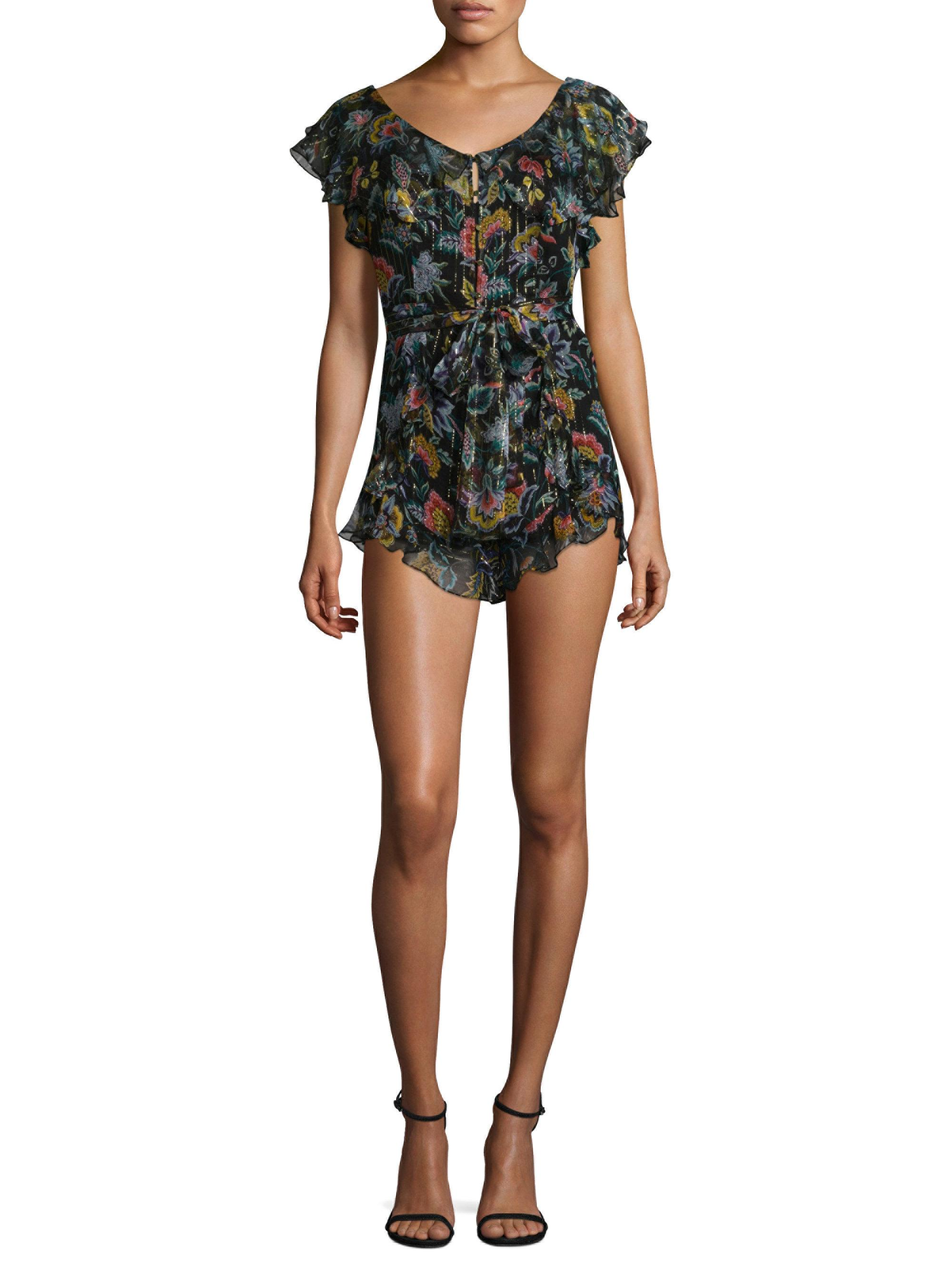 92d67cd624 Lyst - Alice McCALL Tiny Dancer Sheer Floral Playsuit