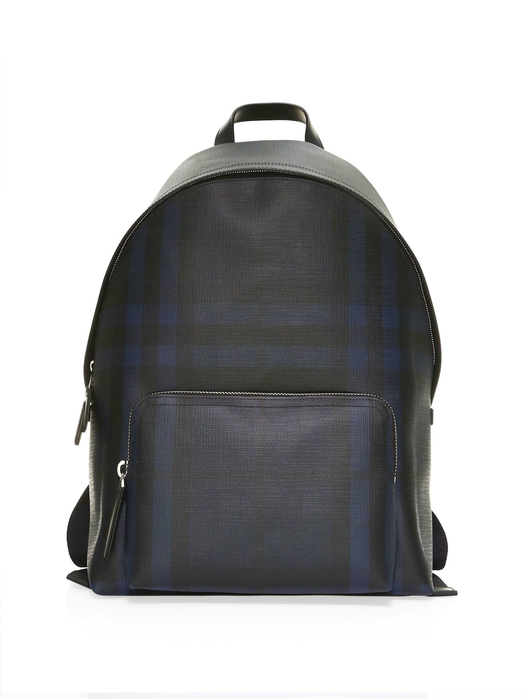 52bde0b21e41 Lyst - Burberry Men s London Check Abbeydale Backpack - Navy Black ...