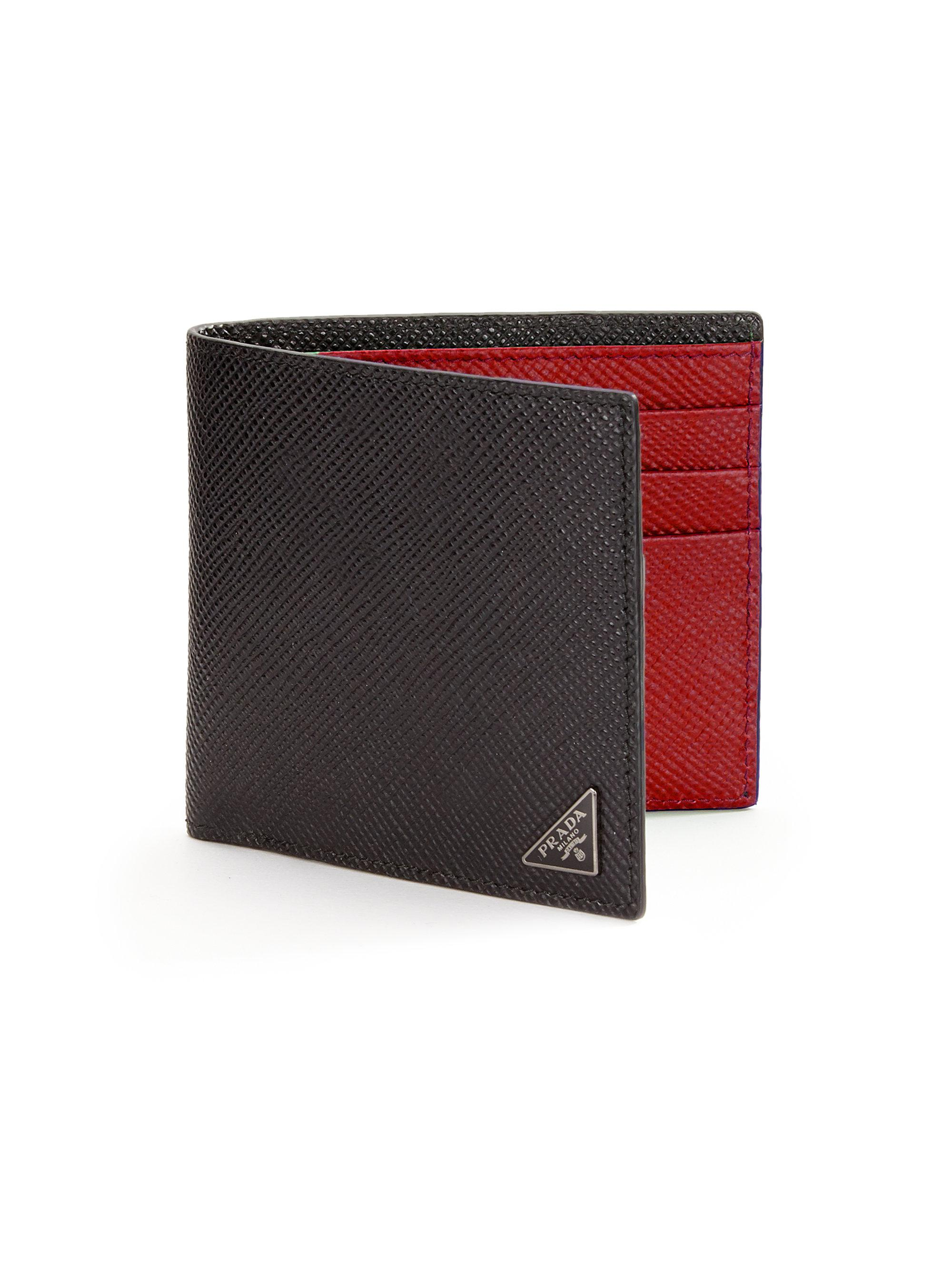 c669c3a0b90e Prada Orizzontale Wallet in Black for Men - Lyst