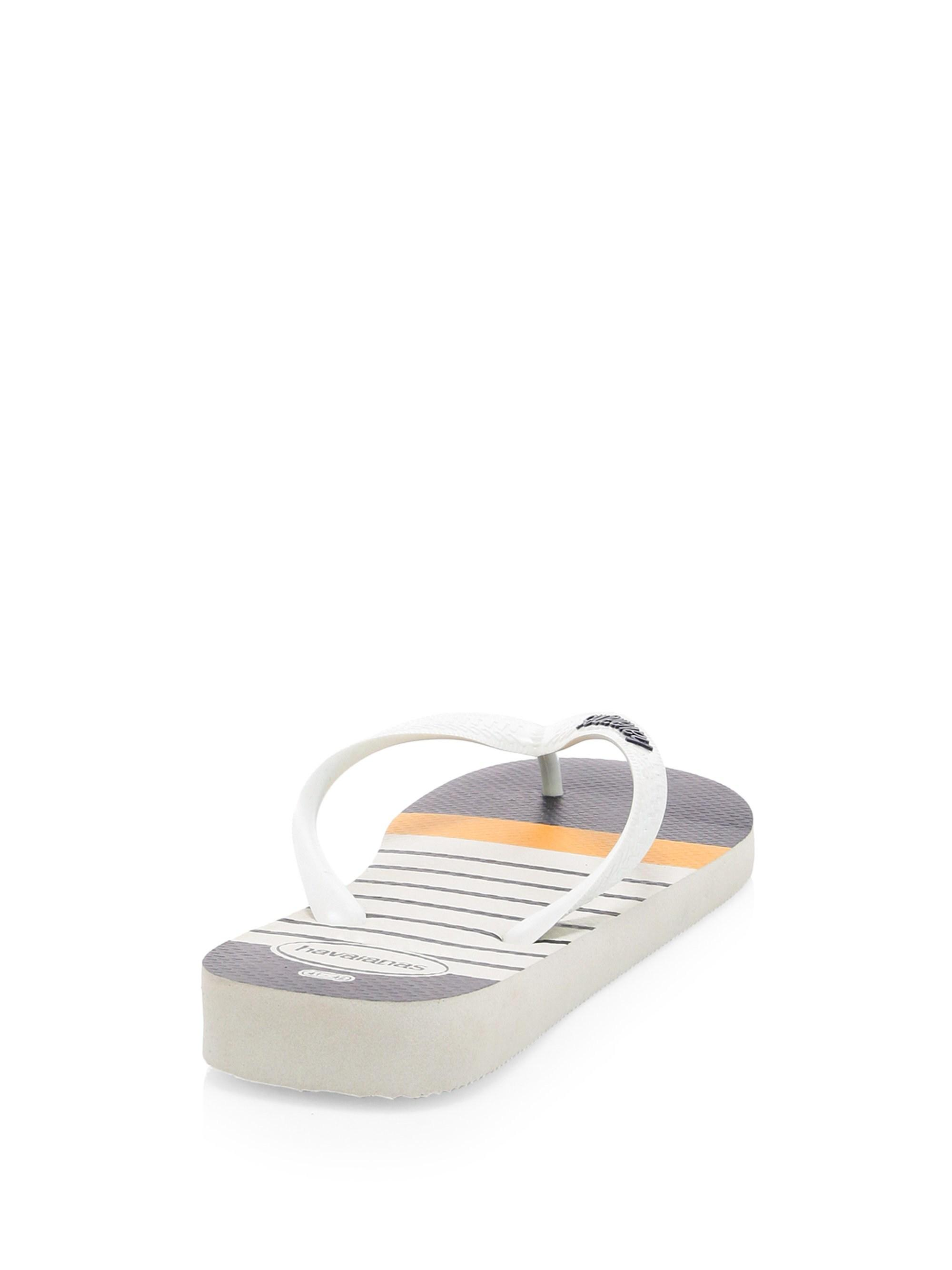 4a1613d4f78 Lyst - Havaianas Men s Nautical Thong Flip-flops - White - Size 45-46 (13)  in White for Men - Save 17%