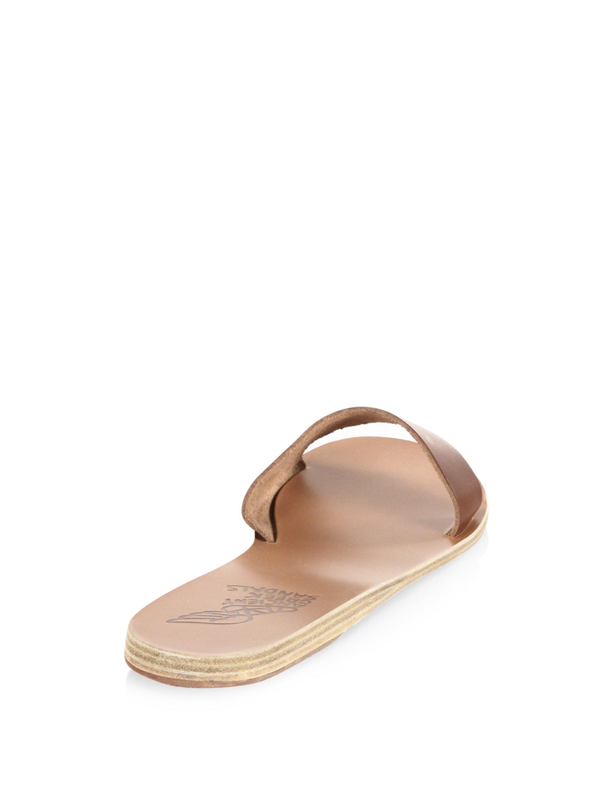 Ancient Greek Sandals - Brown Arsinoi Leather Sandals - Lyst. View  fullscreen