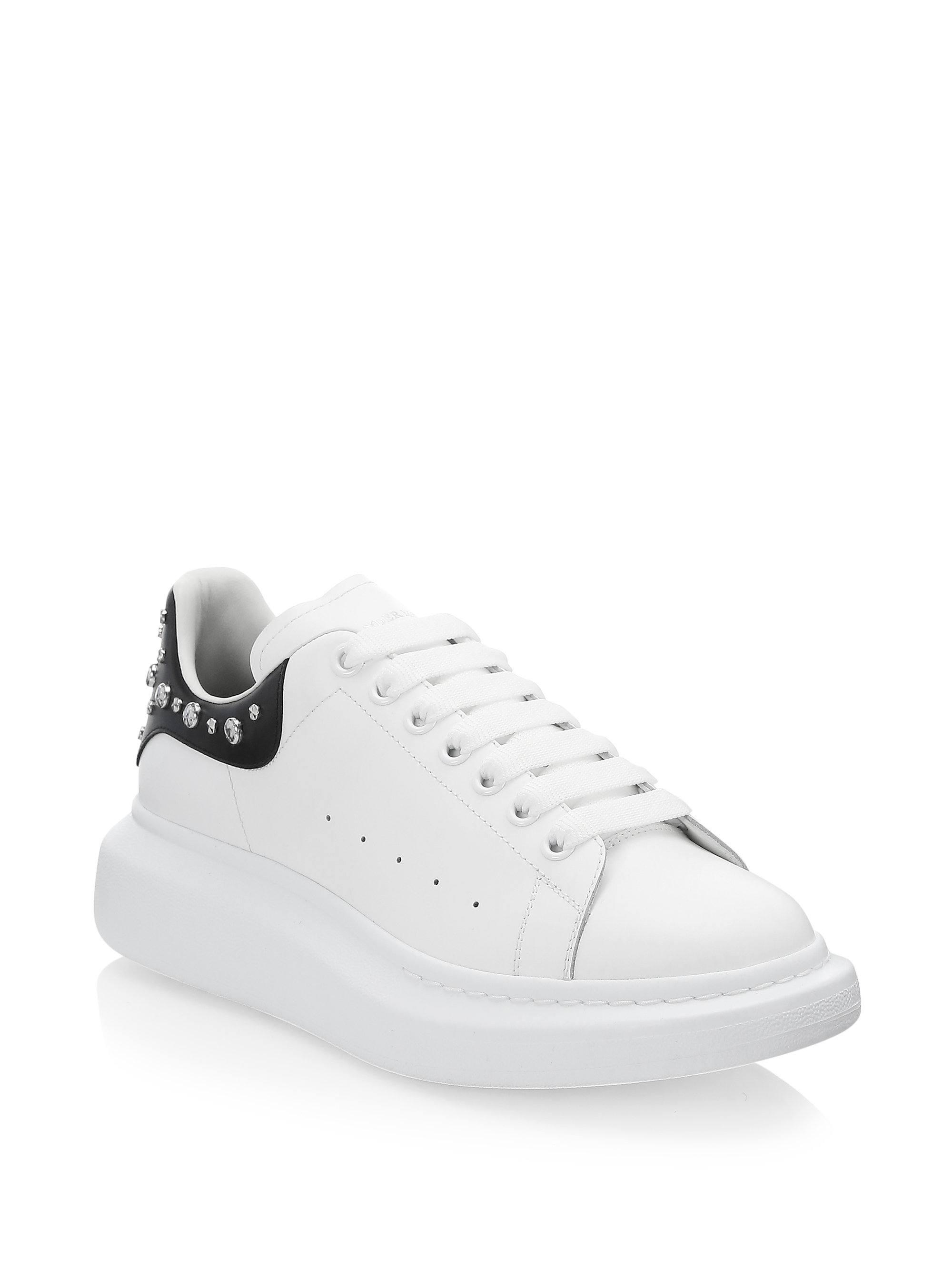 92735d32316c Lyst - Alexander Mcqueen Oversized Studded Leather Sneakers in White ...