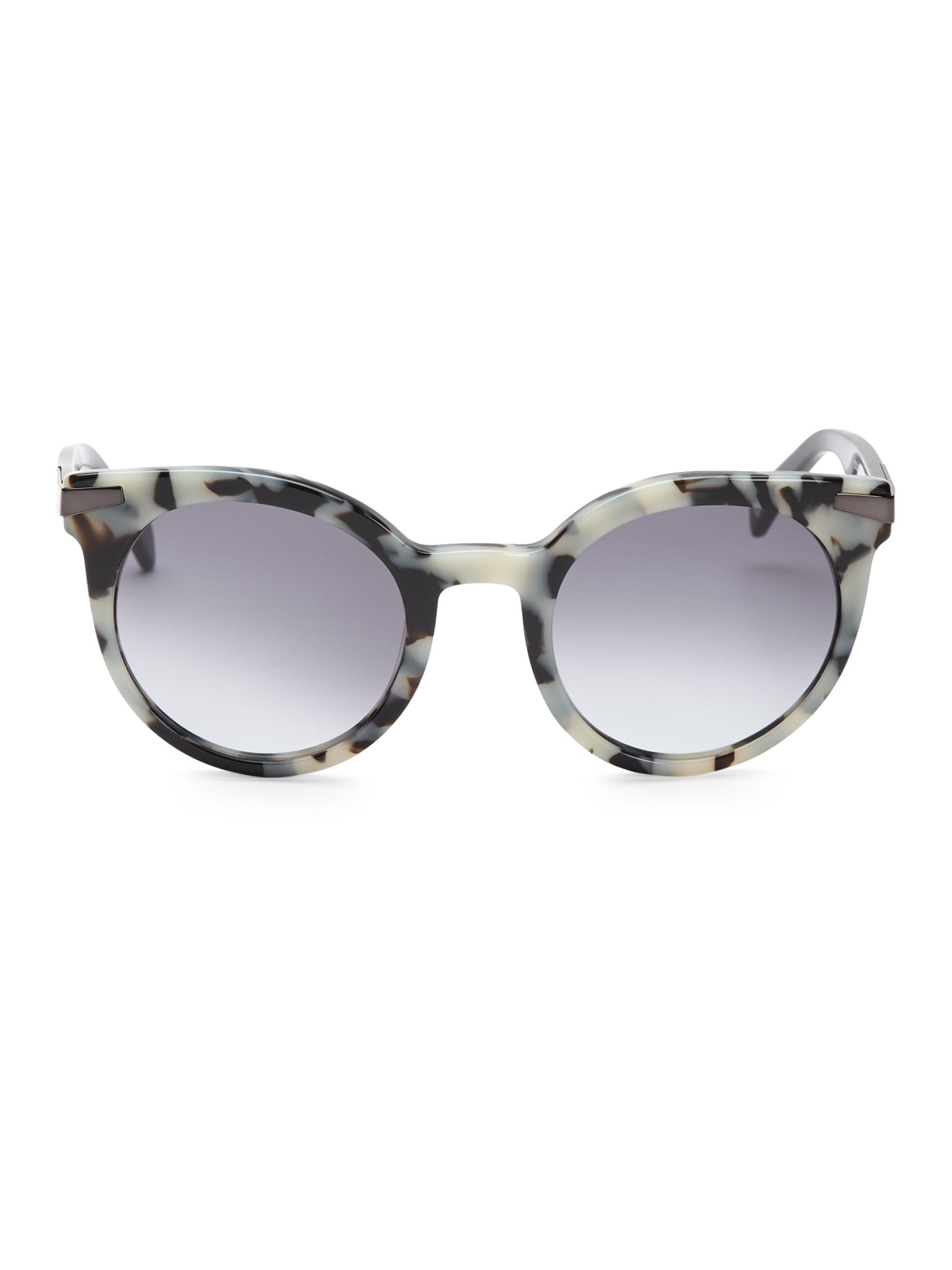 588cb2c59b Lyst - Balmain 51mm Round Tortoise Shell Sunglasses in Gray - Save 25%