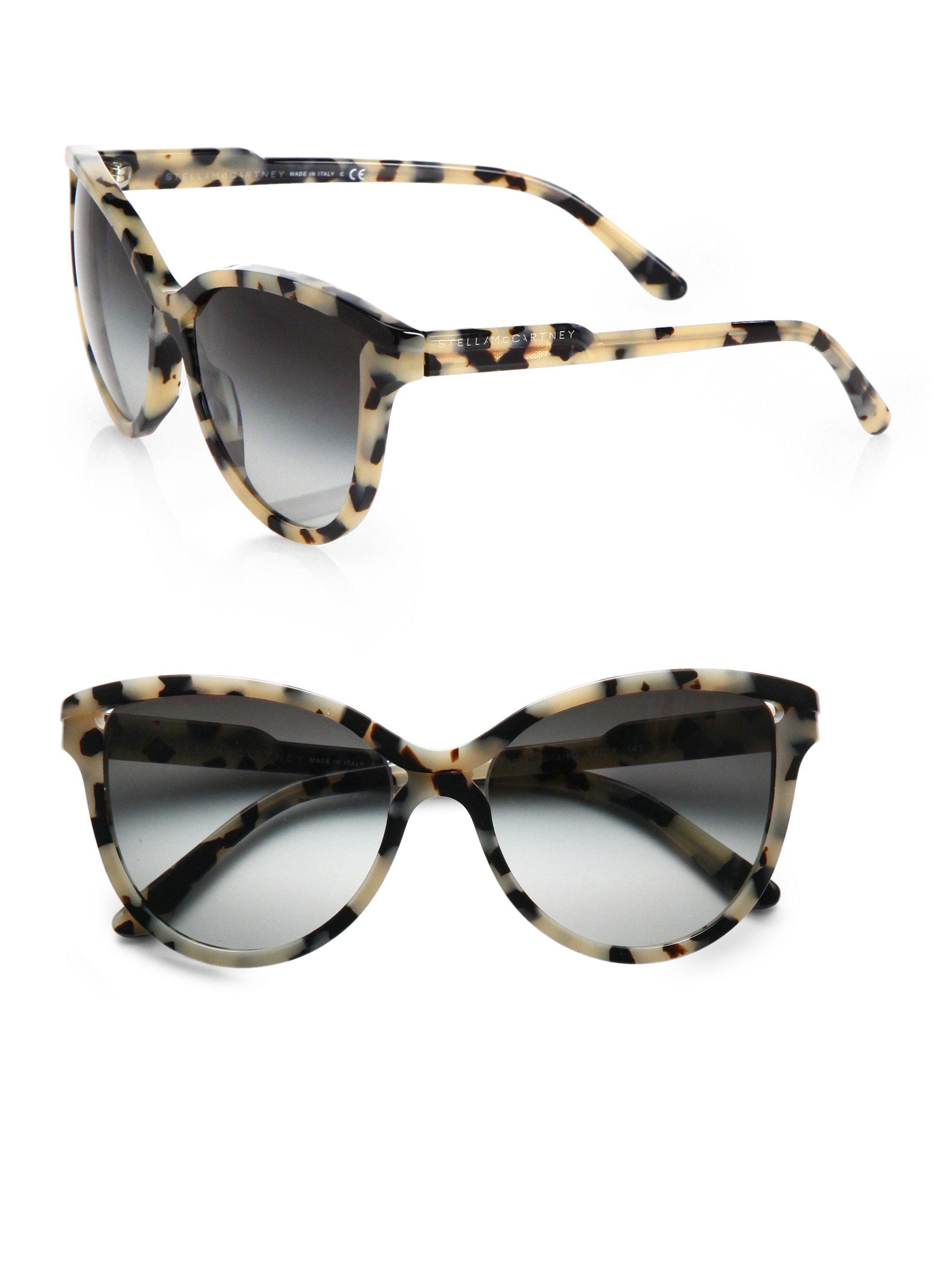 28b48d6b4ff Lyst - Stella McCartney Butterfly Acetate Cat S-Eye Sunglasses in Gray