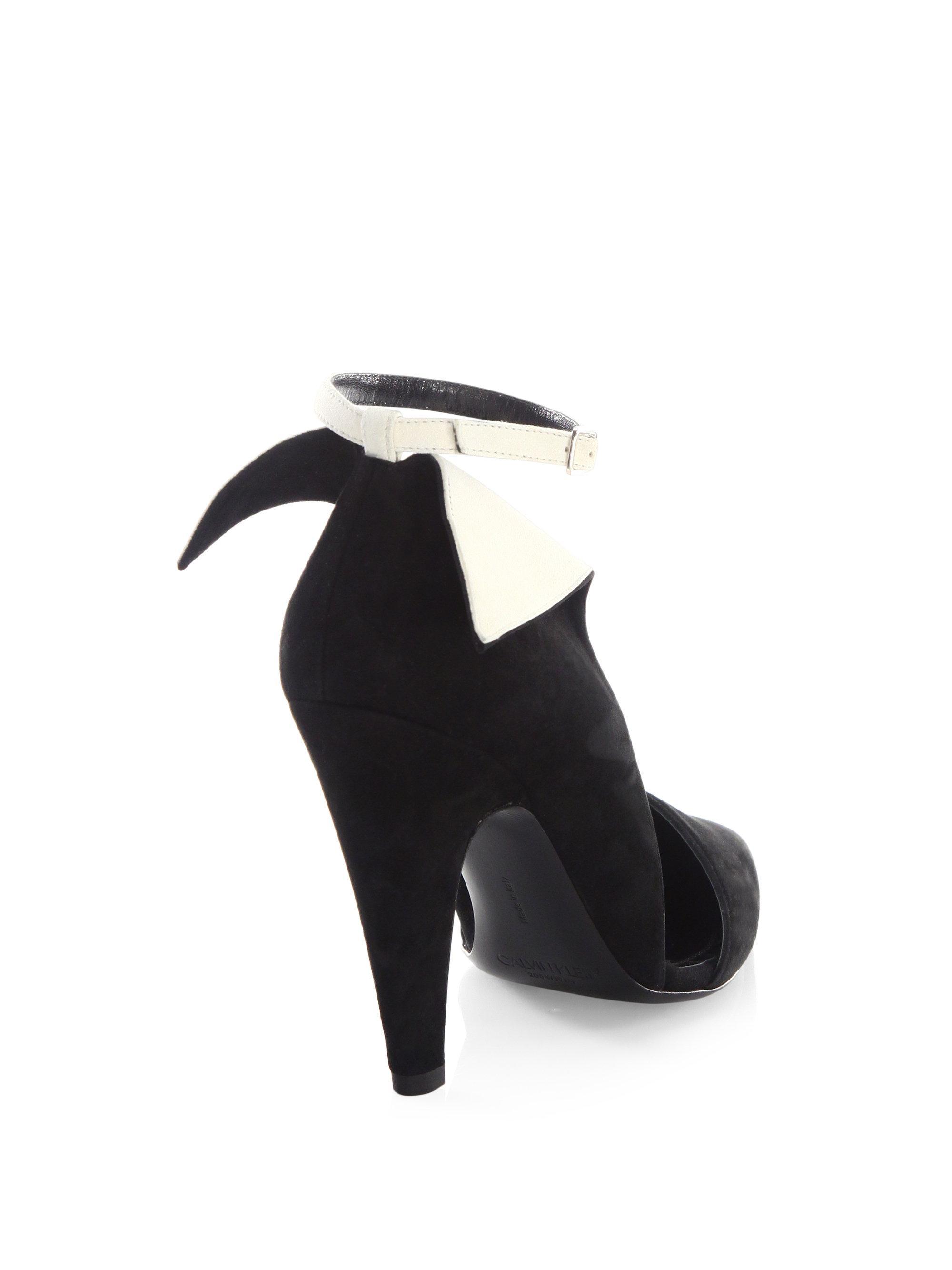 Womens Kaiya Suede Ankle-Strap Pumps CALVIN KLEIN 205W39NYC Cheap Discount Sale G4UPaz0U8x