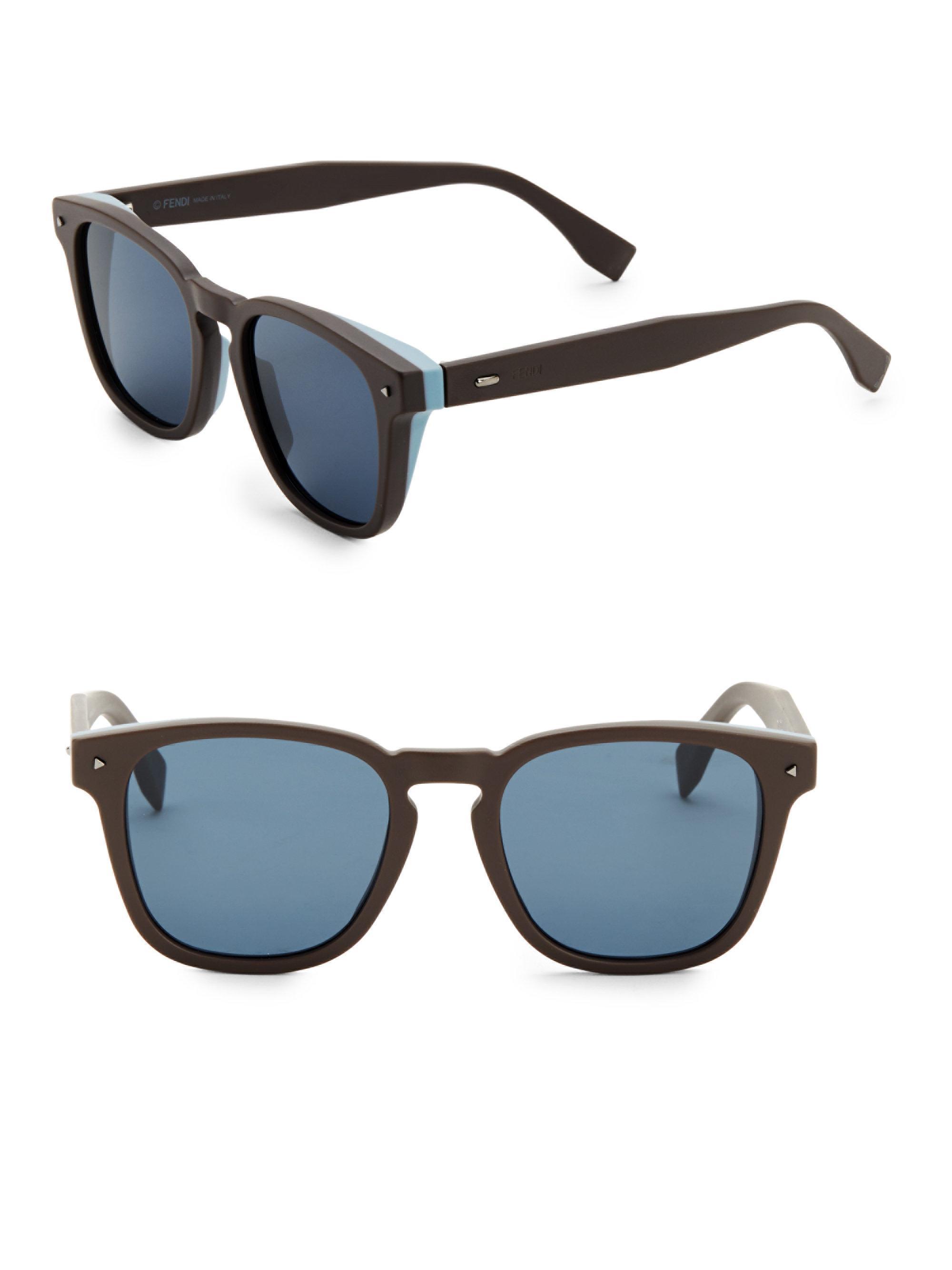 984dd4691a5 Fendi. Men s Brown 52mm Square Sunglasses.  522 From Saks Fifth Avenue