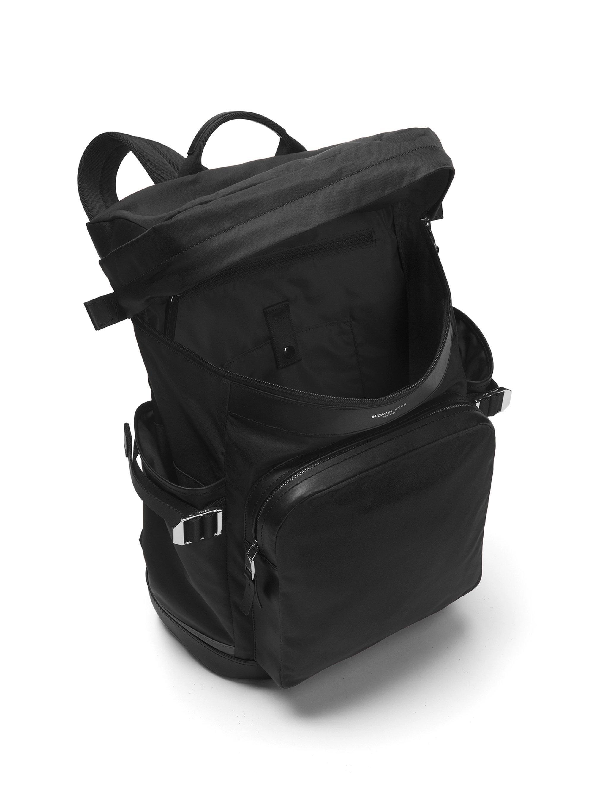 5dc3058a7b76 Lyst - Michael Kors Kent Trimmed Backpack in Black for Men