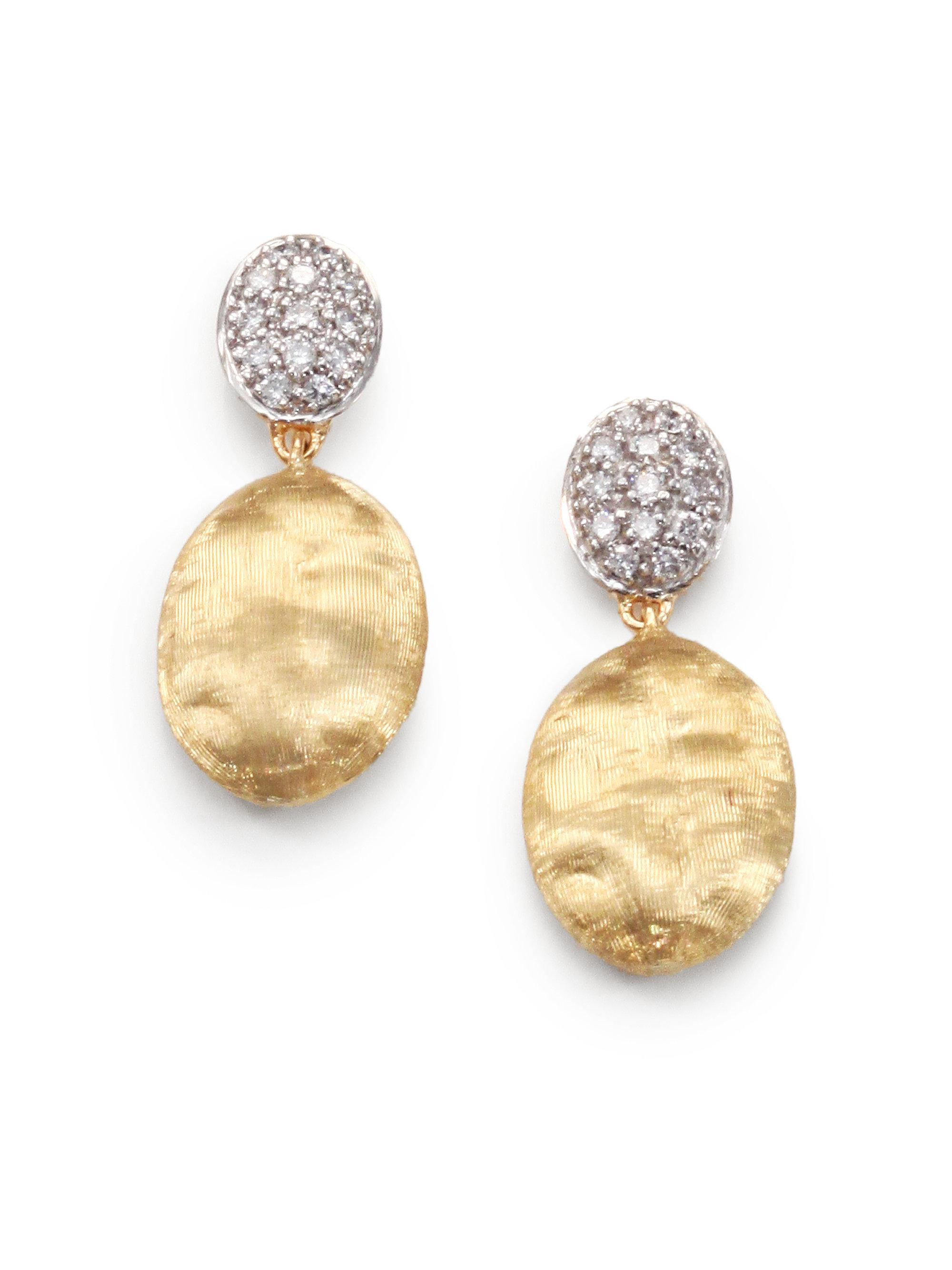 Marco Bicego Siviglia 18K Gold & Pavé Diamond Double-Drop Earrings fKiNA