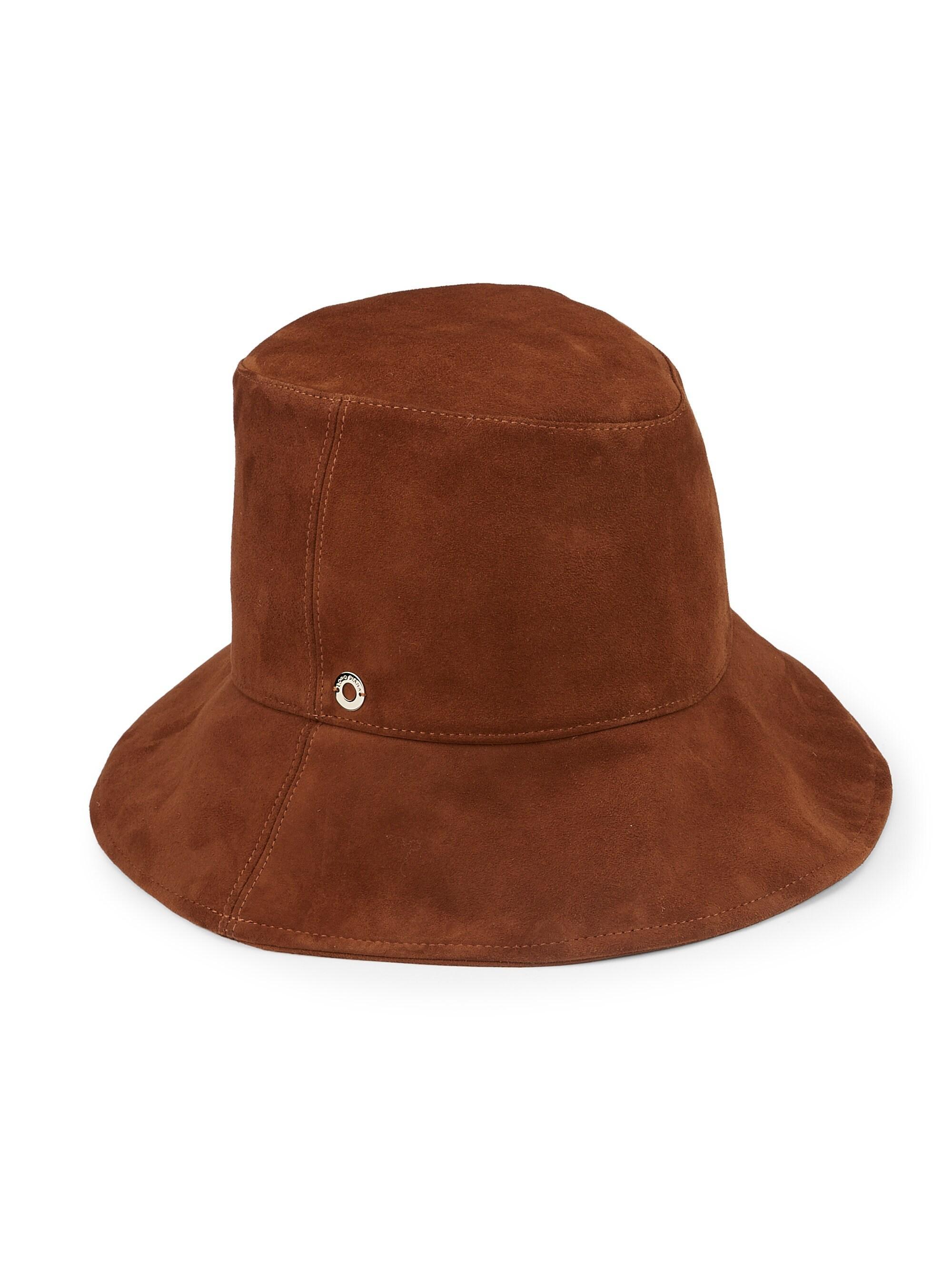 13ed555e0b2 Loro Piana Nellie Suede Bucket Hat in Brown - Lyst