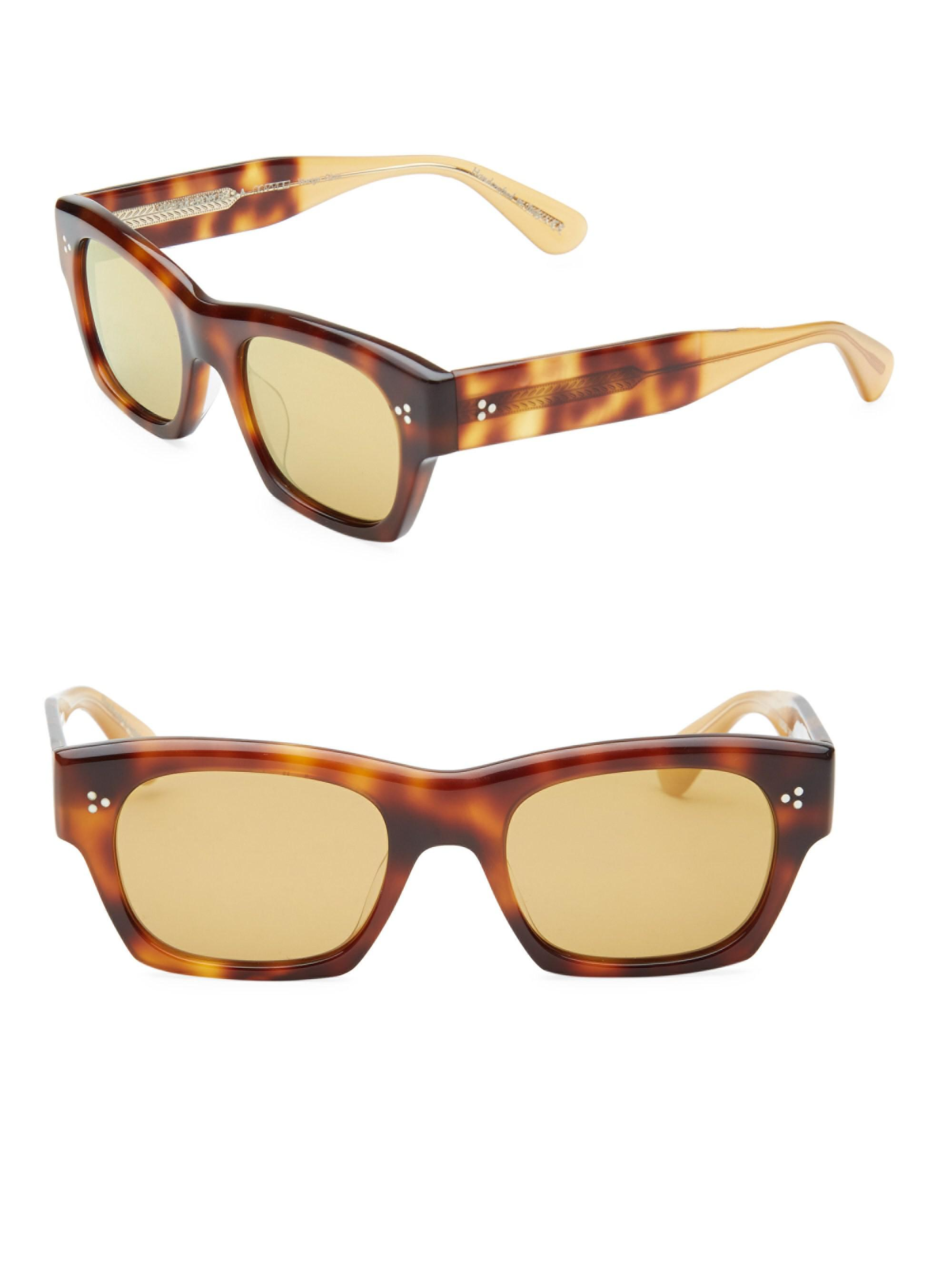 9fcde166d48 Oliver Peoples Leopard Print 51mm Square Sunglasses in Brown for Men ...