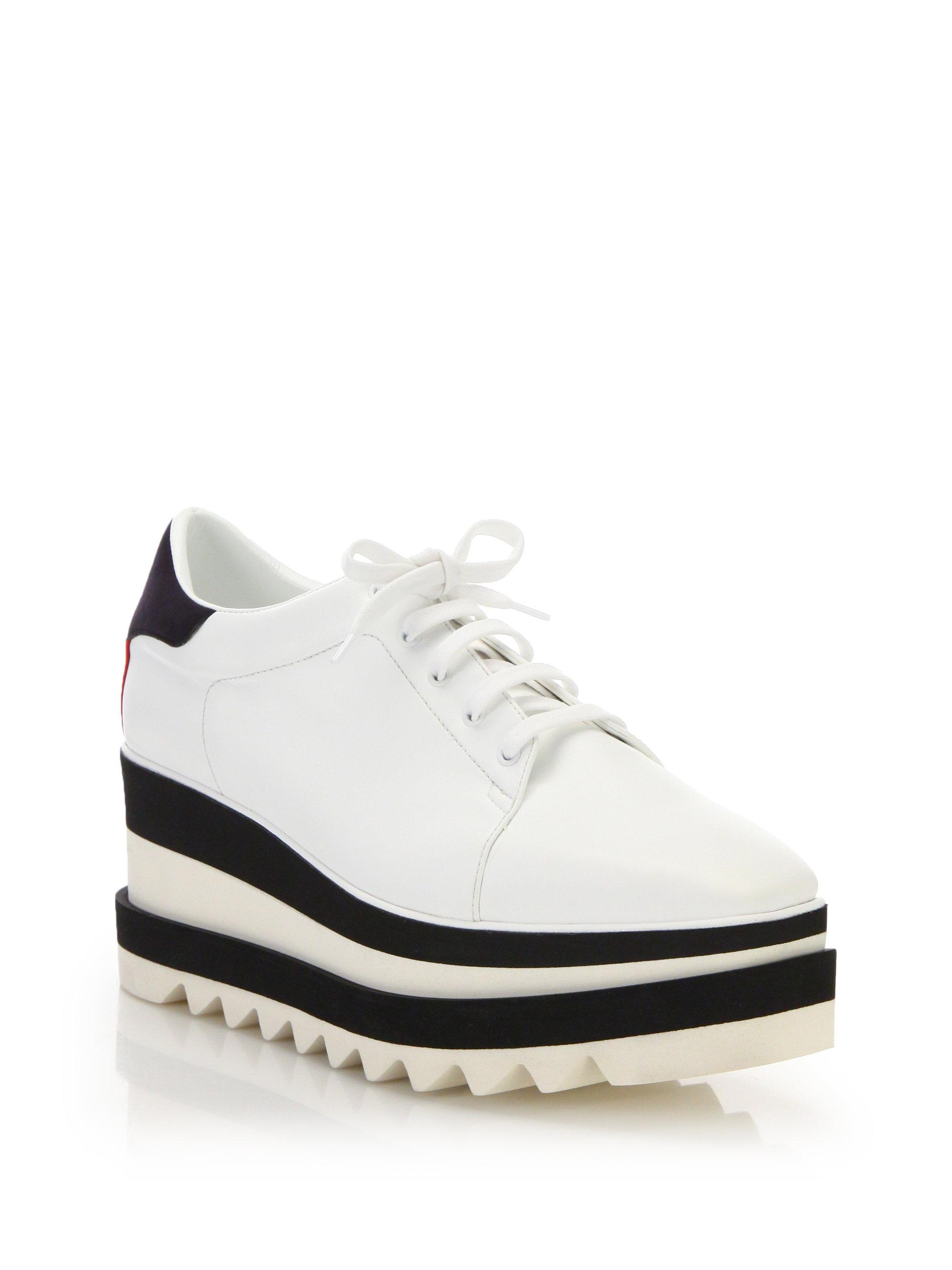 fc6b1e168d Lyst - Stella Mccartney Platform Low-top Sneakers in White