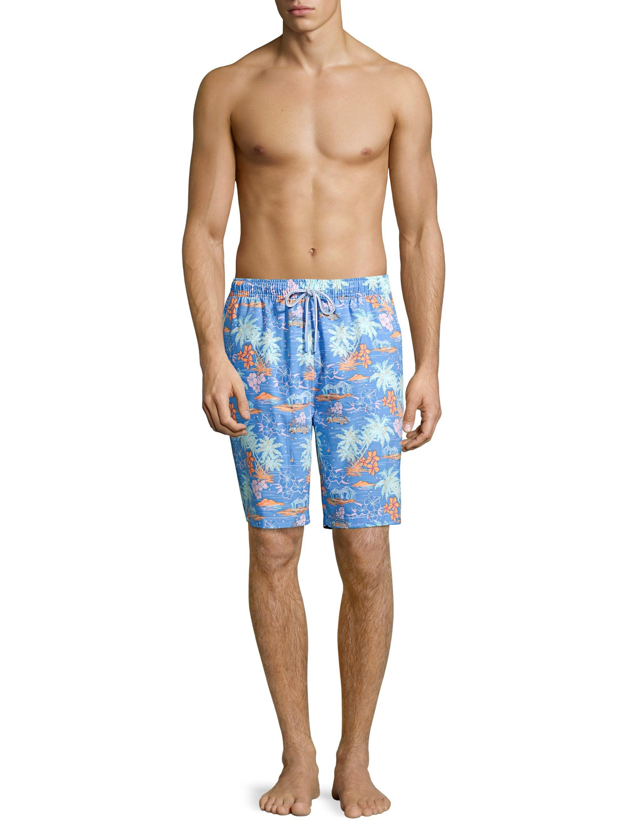 6132890400 Lyst - Peter Millar Men's Hawaiian Sunset Print Swim Shorts - Blue - Size  Xxl in Blue for Men