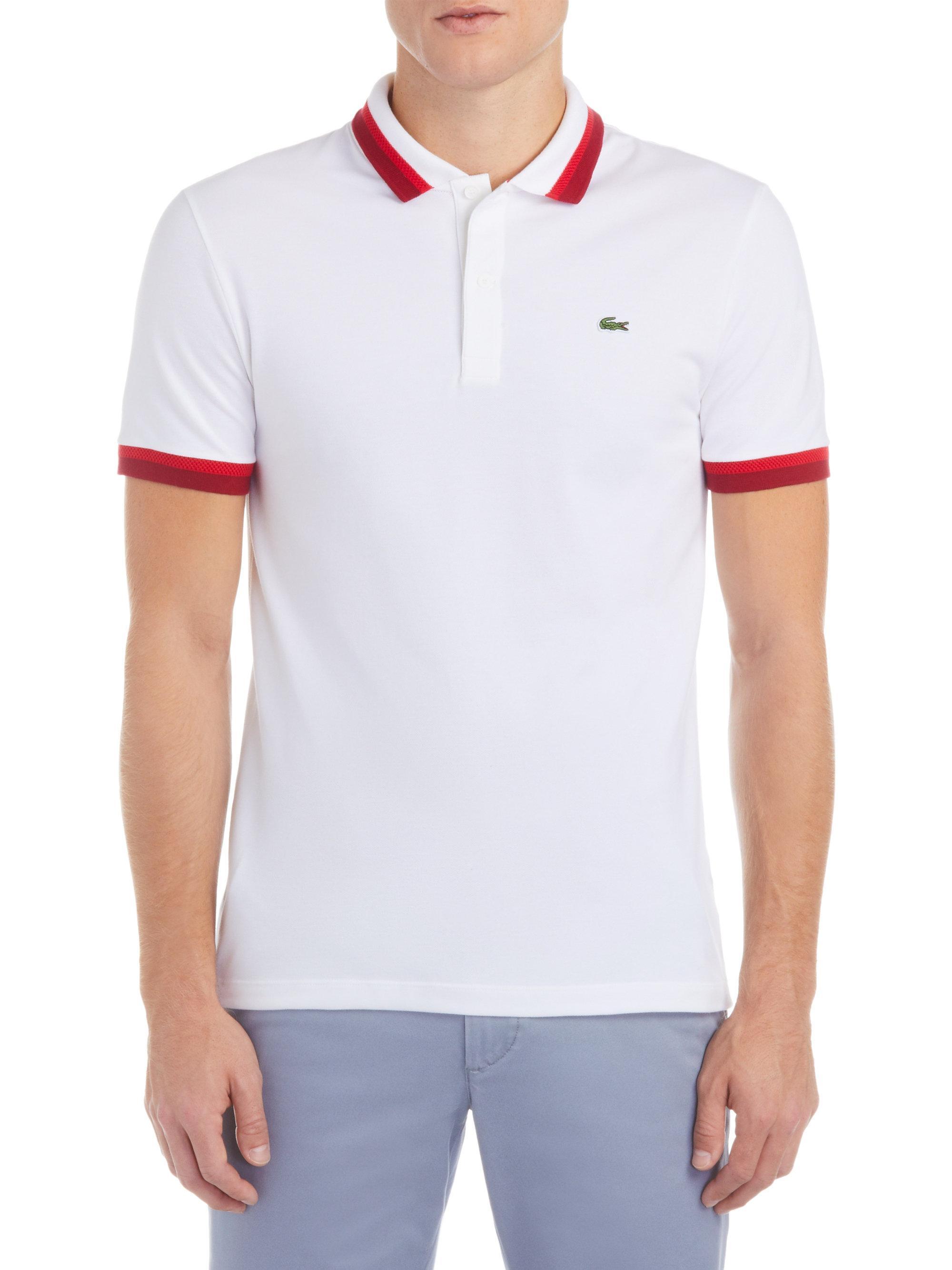 92dc7b96209997 Lyst - Lacoste Semi-fancy Polo in White for Men
